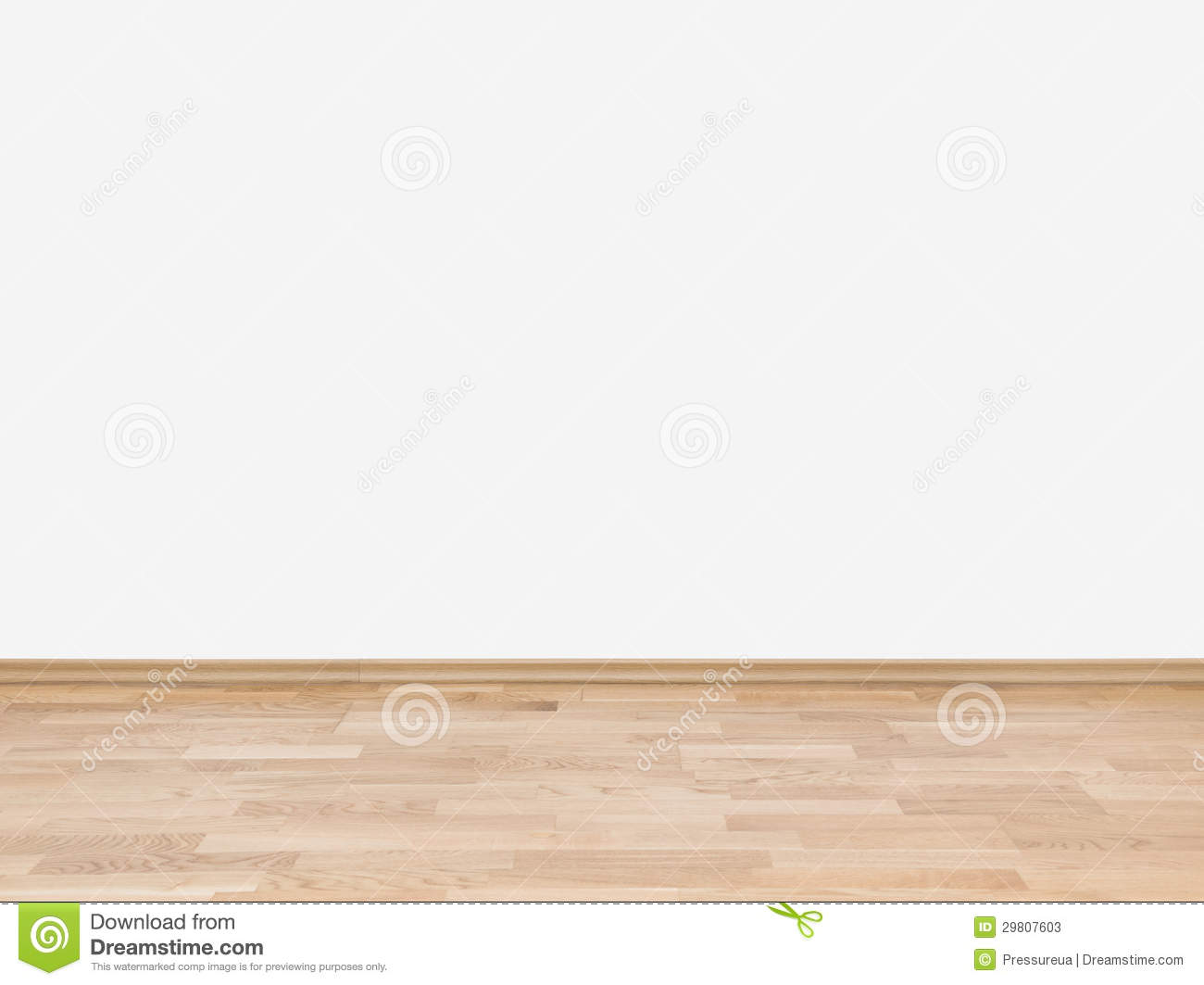 Empty White Wall With Wooden Floor Stock Image - Image ...