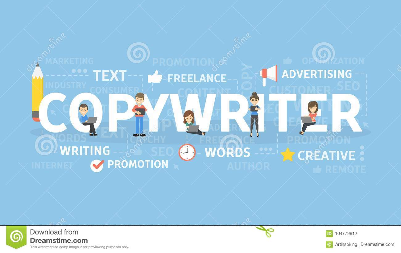 Copywriter Concept Illustration Idea Of Writing Texts Creativity And Advertising