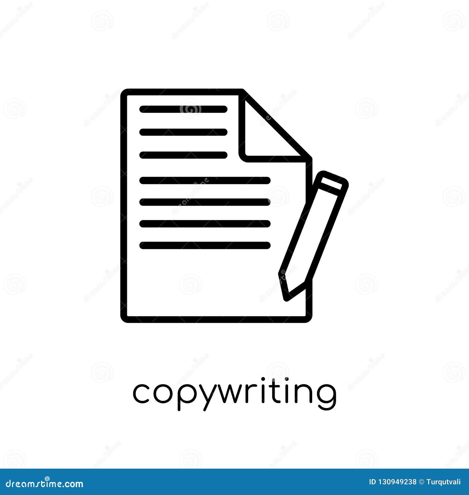 Copywriting symbol Moderiktig modern plan linjär vektor som copywriting mig