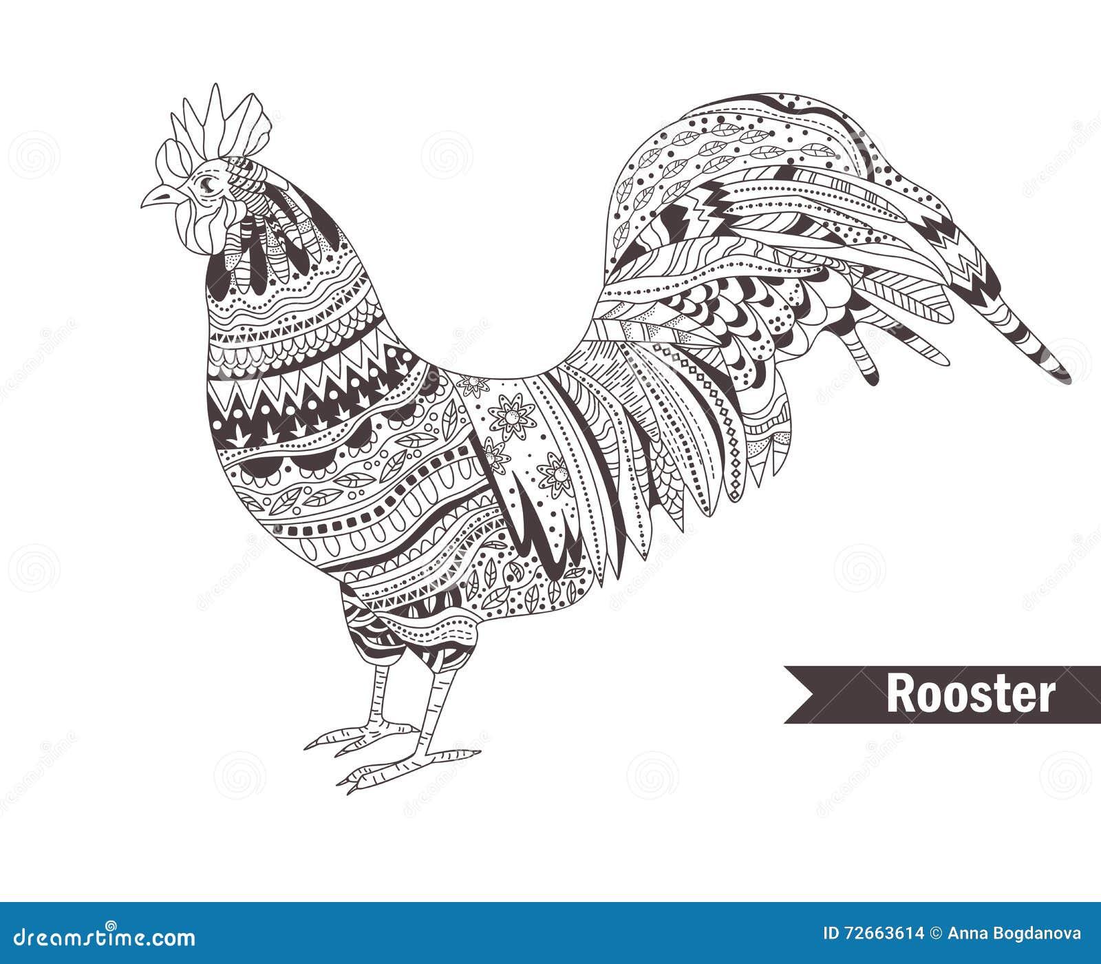 Coq Illustration d isolement par vecteur stock