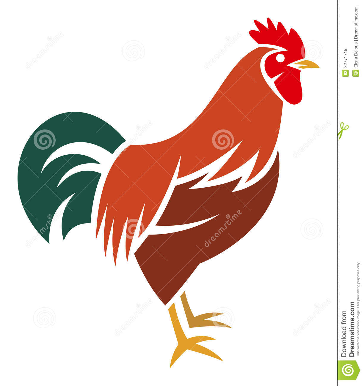 Coq Stylis&#233... Free Clipart Collection Download