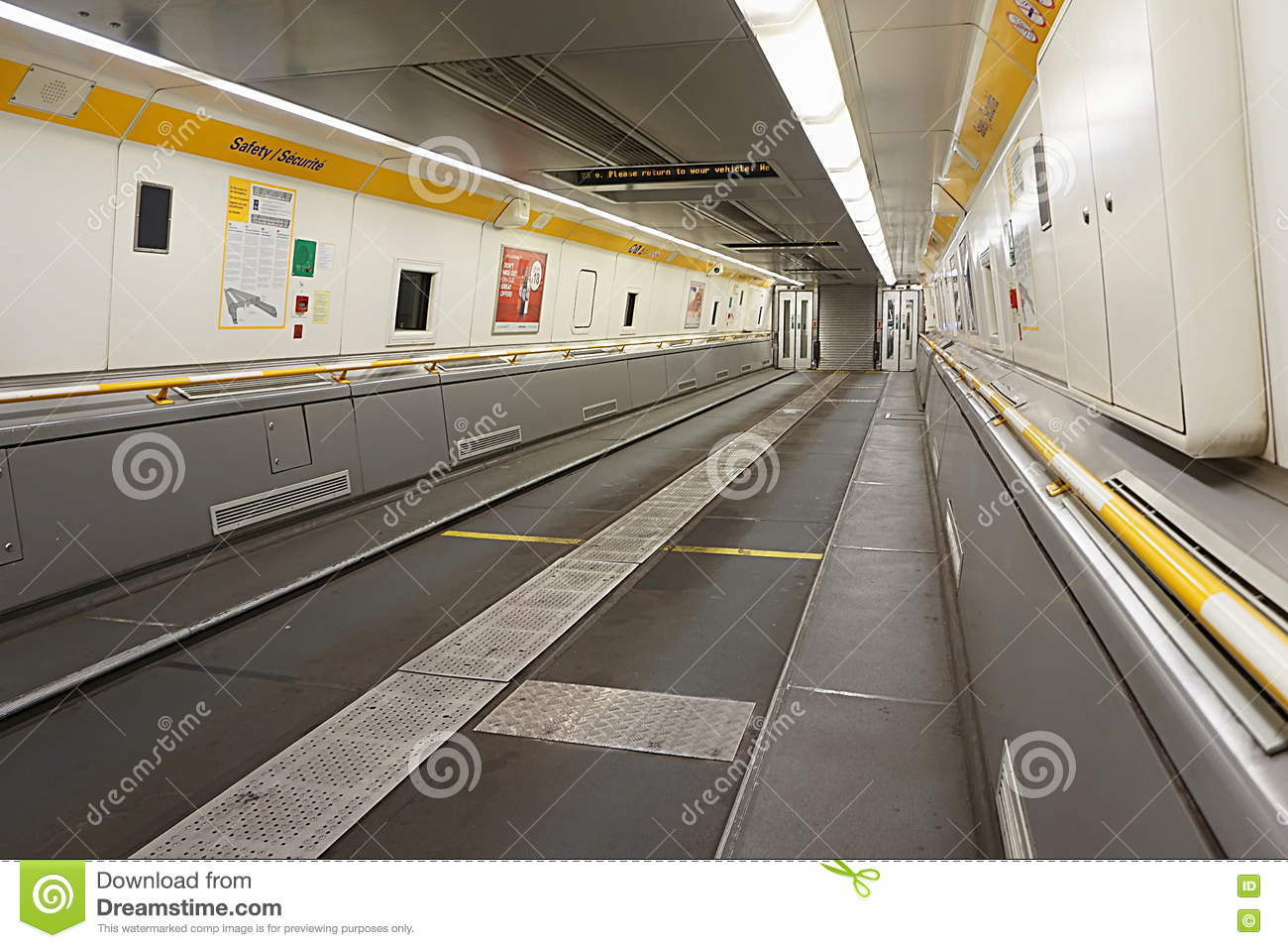 Coquelles Pas De Calais France May 07 2016 Empty Eurotunnel Car