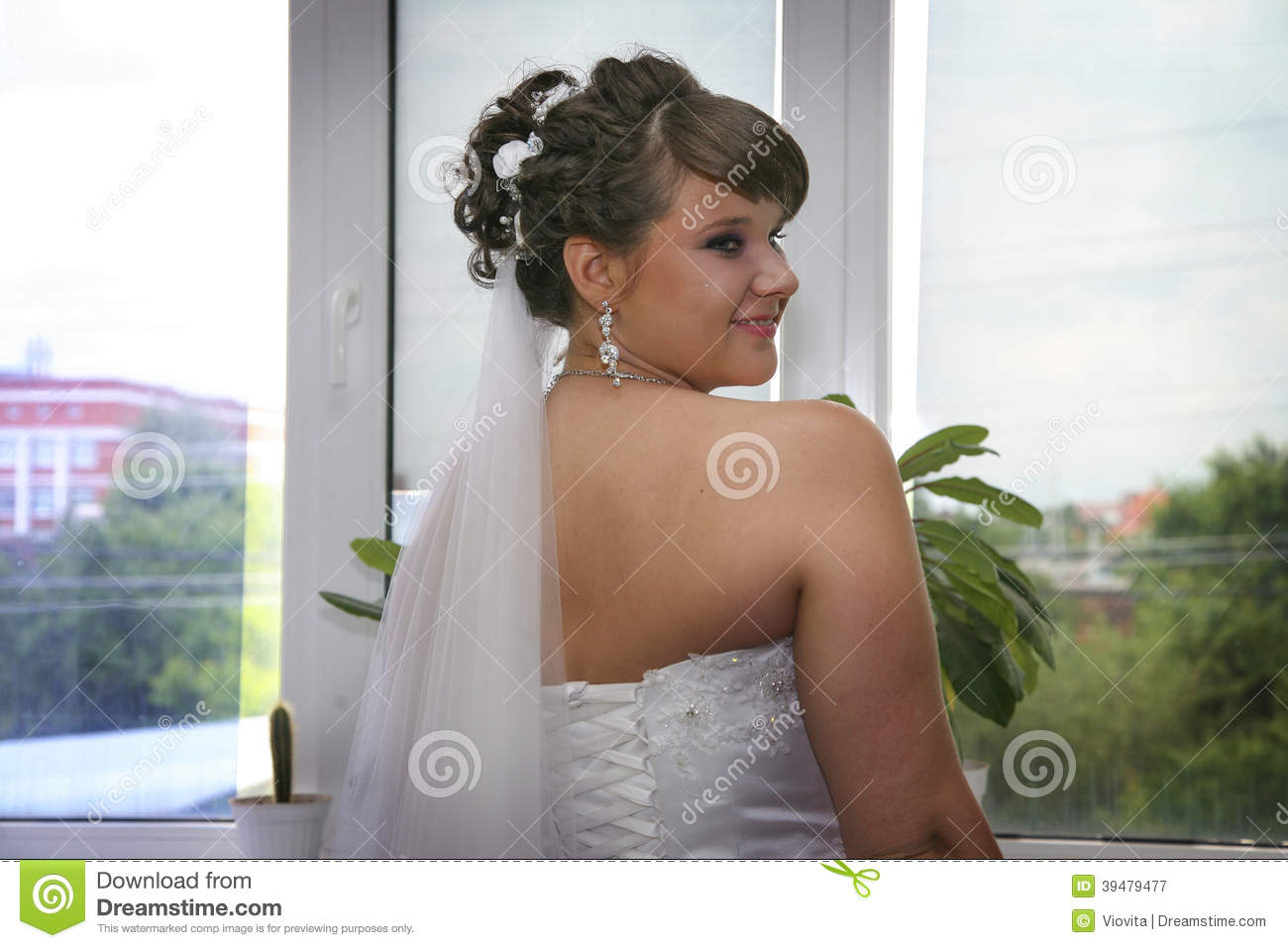 Coquettish bride waiting for her prince