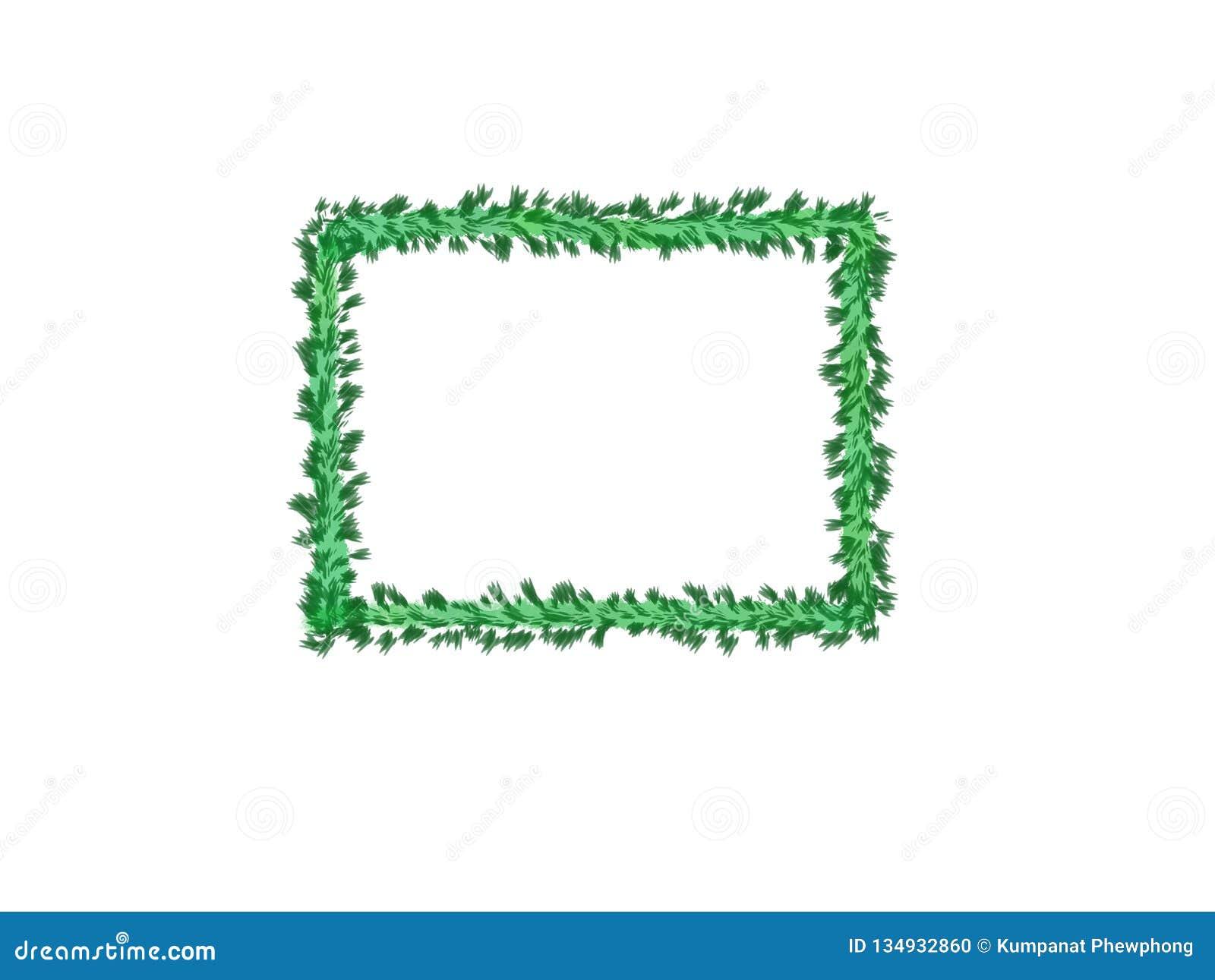 Cor de água abstrata da tinta, quadro verde das folhas no fundo branco com espaço da cópia para a bandeira ou logotipo