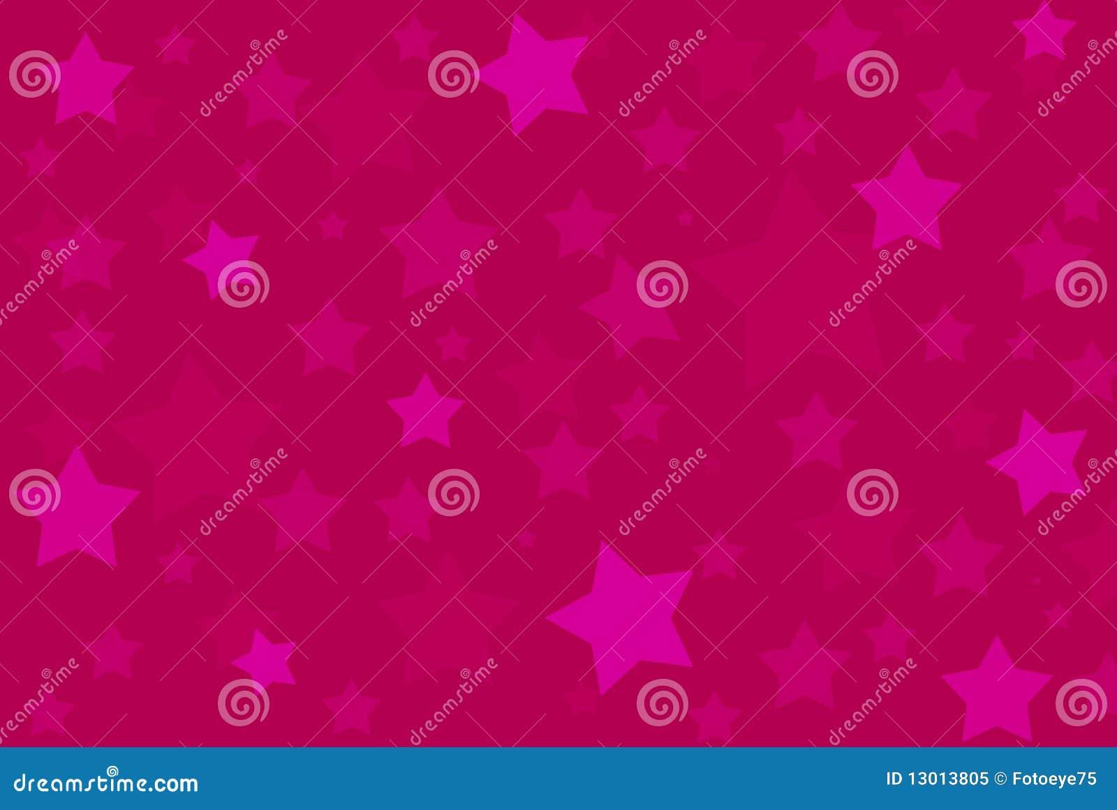 A cor-de-rosa stars o teste padrão do fundo