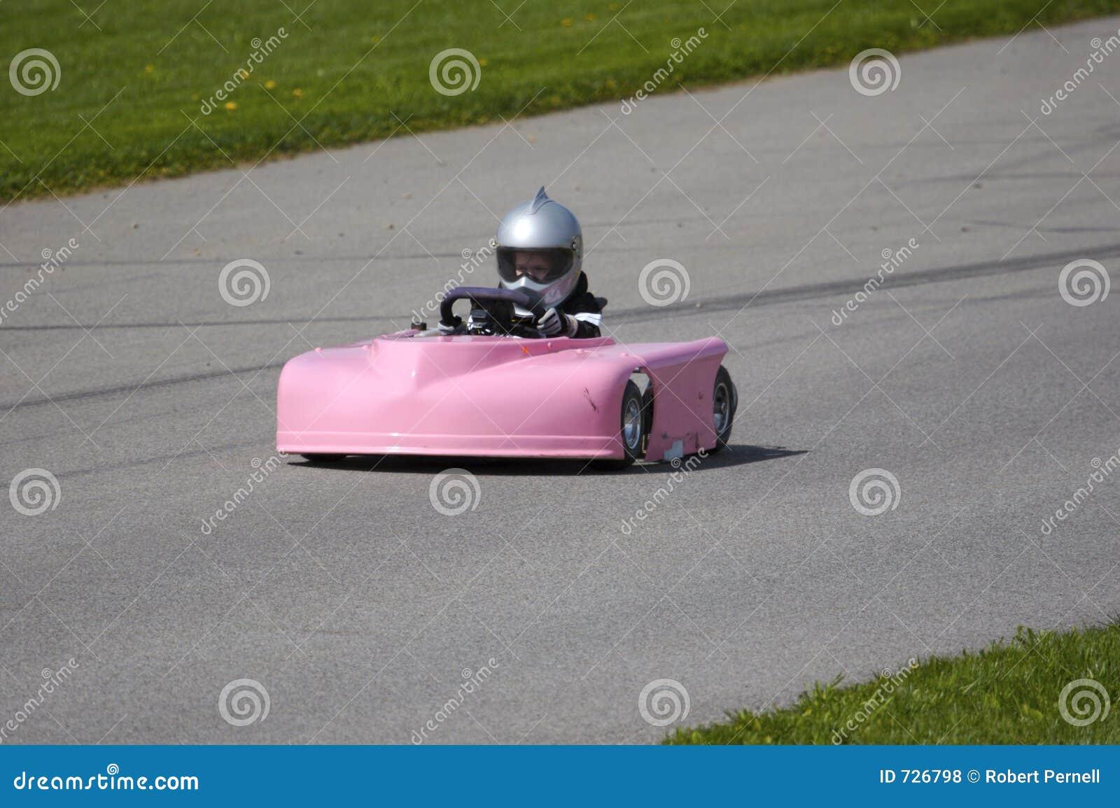 A cor-de-rosa vai Kart