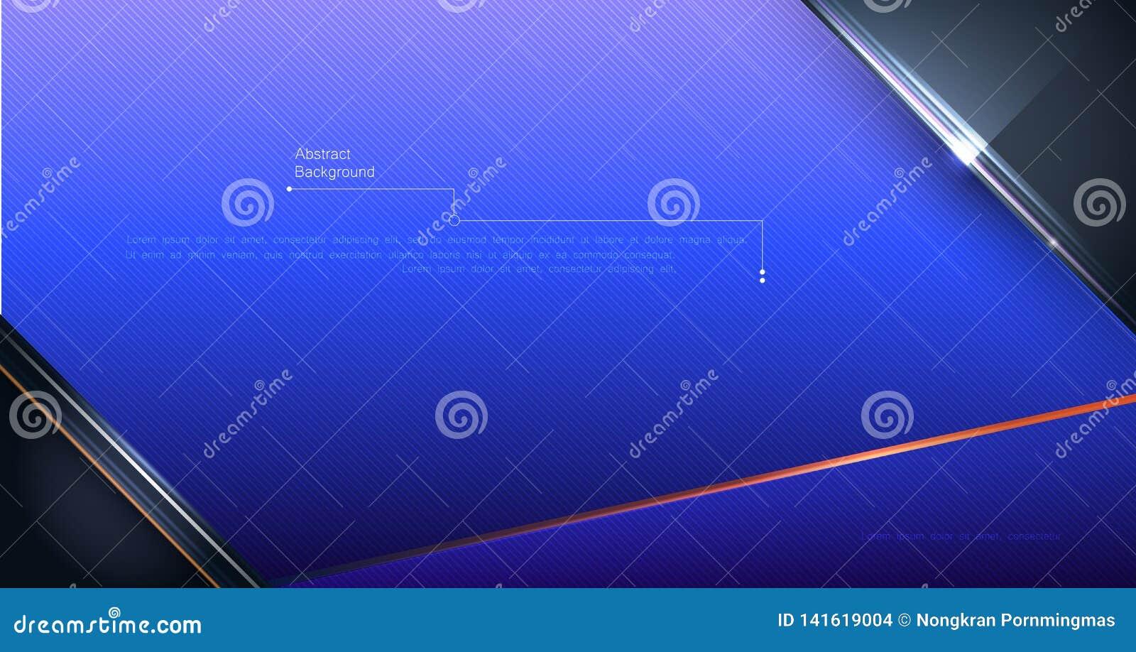 Cor do inclinação do projeto do quadro do metal para o fundo Conceito moderno da tecnologia digital do projeto do vetor