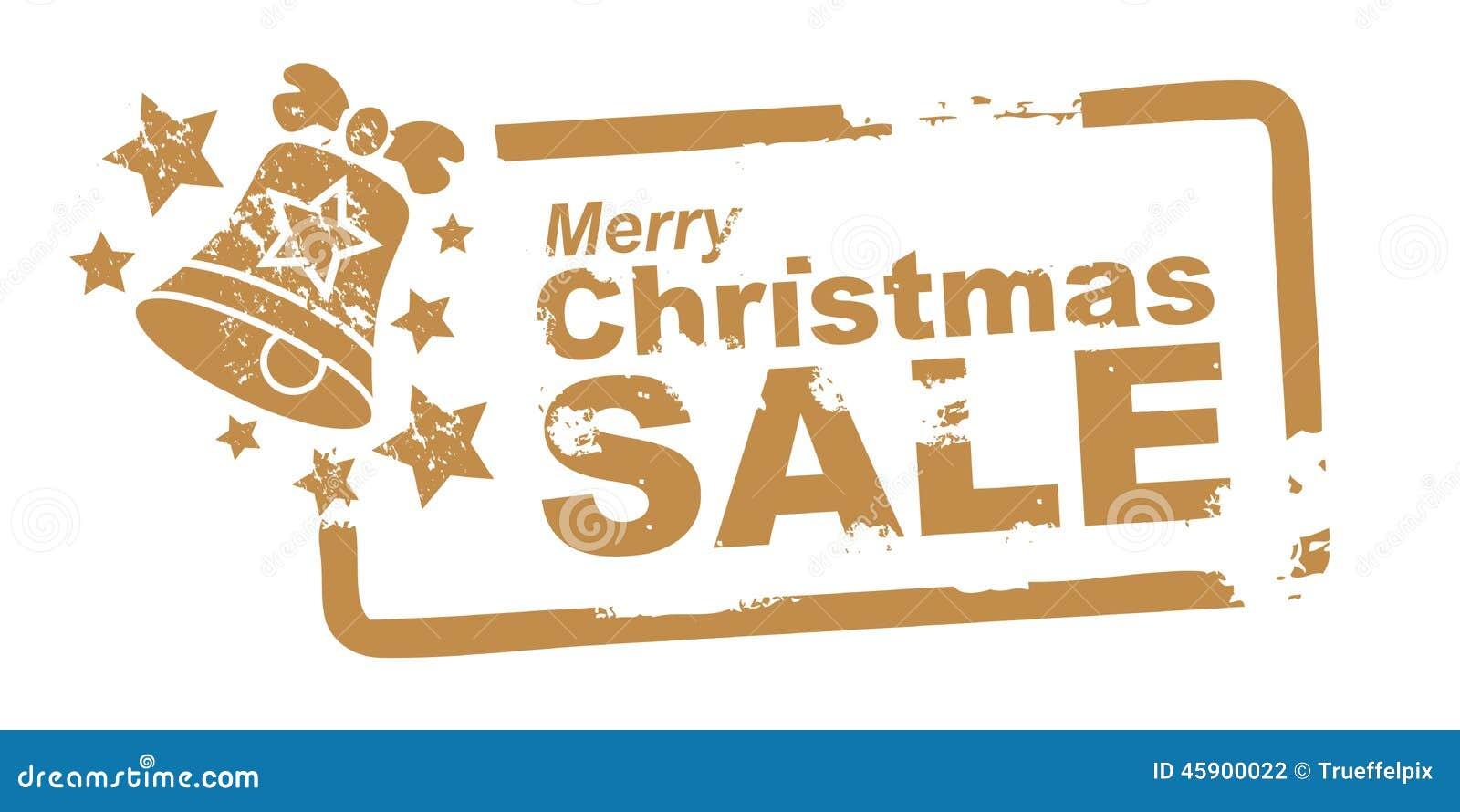 Cor do ouro do selo da venda do Natal
