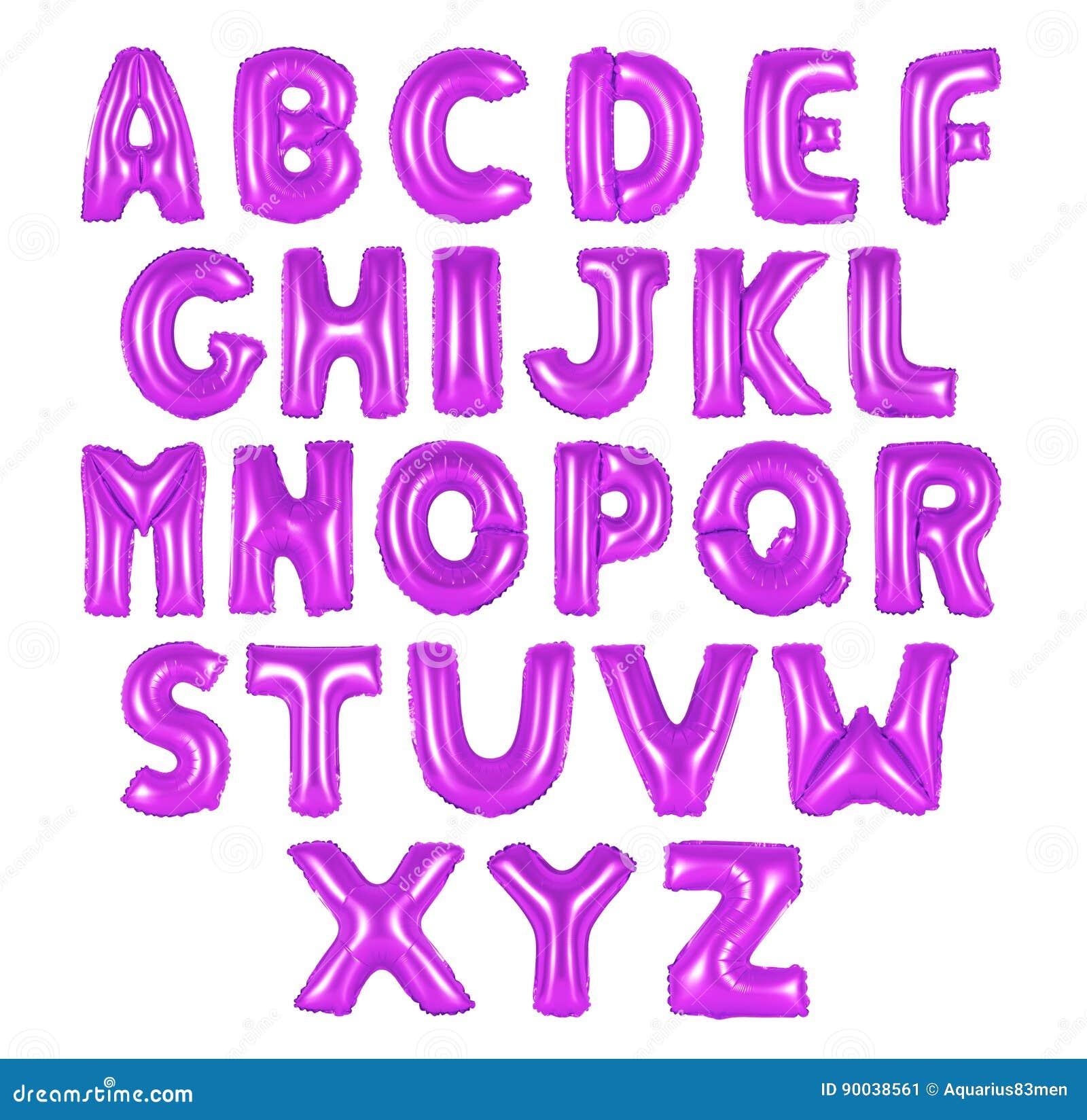 Cor do roxo do alfabeto inglês