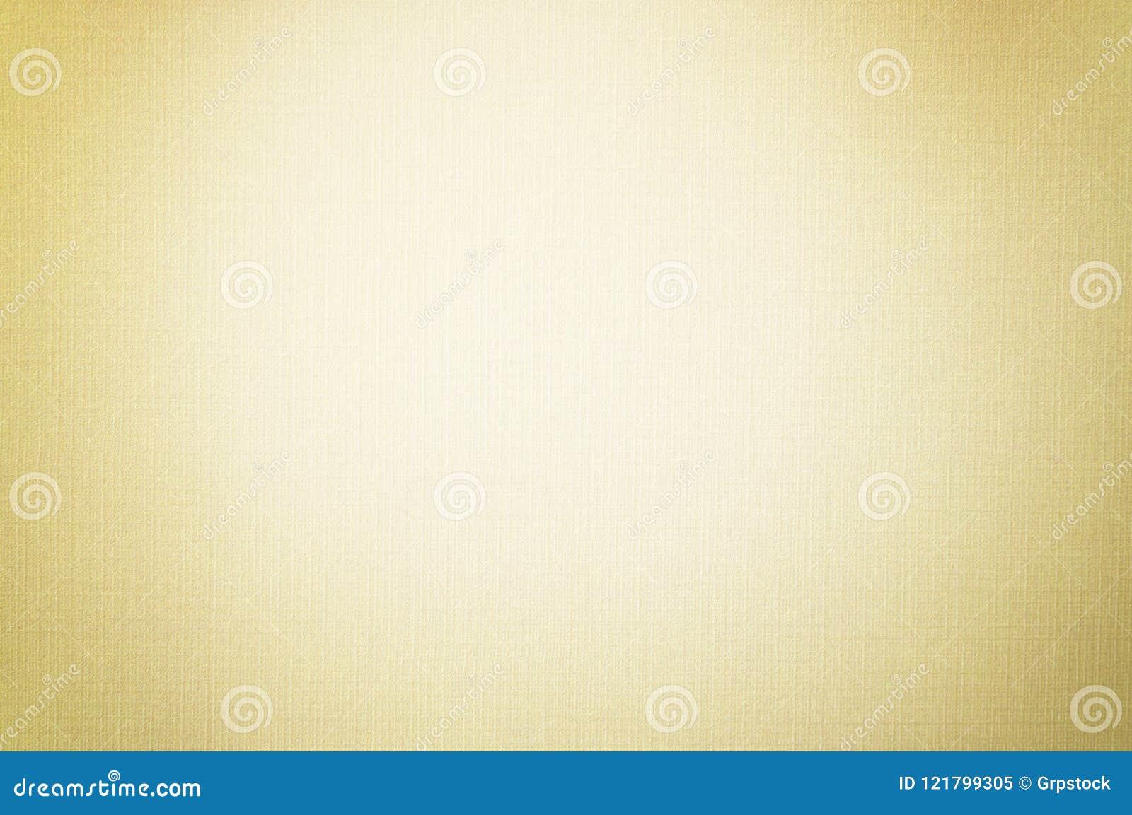 Cor pastel do ouro com a foto macia do foco do teste padrão de linho branco da textura do papel de fundo da tela, Art Paper Backg