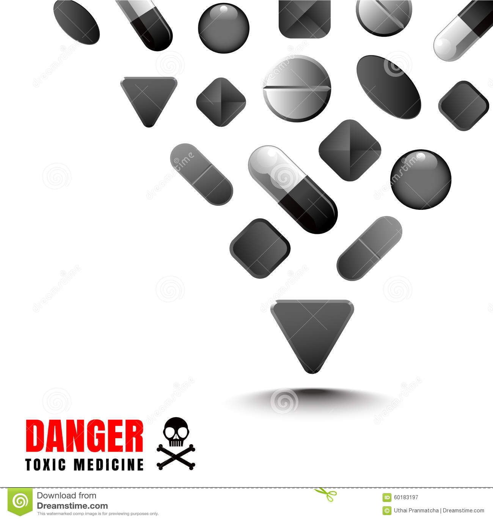 A cor preta da droga representa um perigoso e tóxico