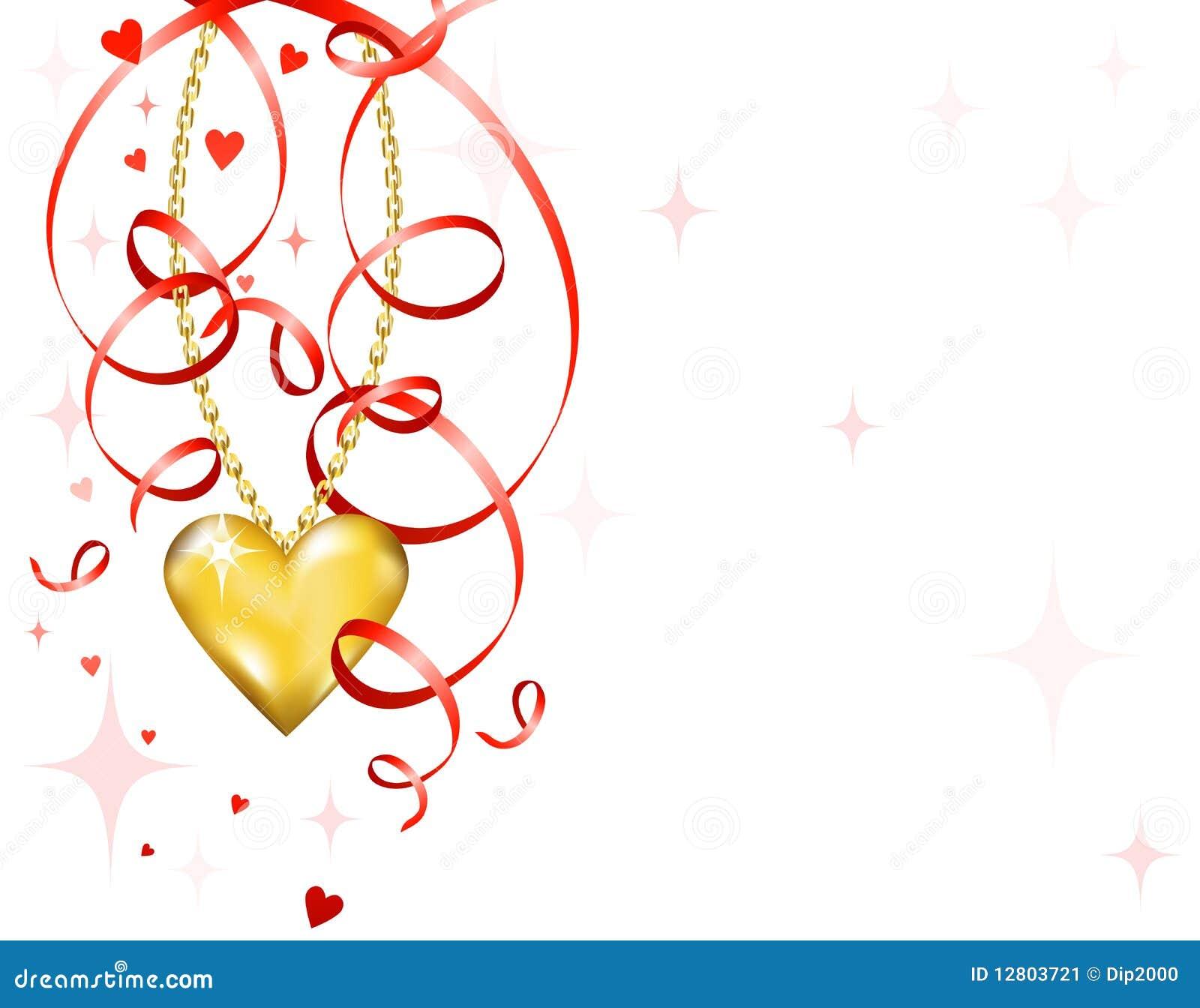 Coração brilhante do ouro