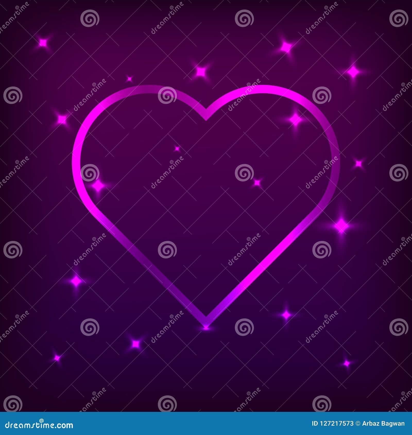 Coração com efeitos bonitos da cor