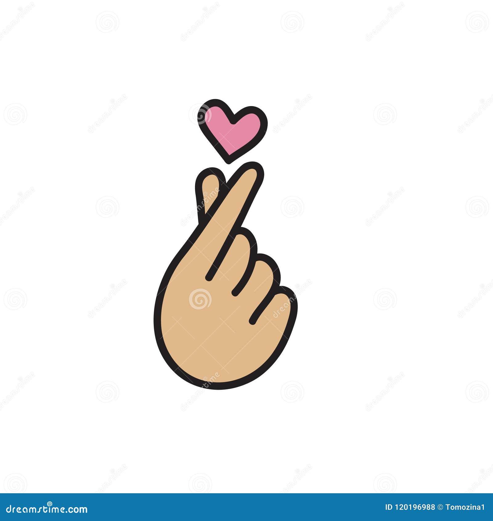 Coração coreano, símbolo do amor