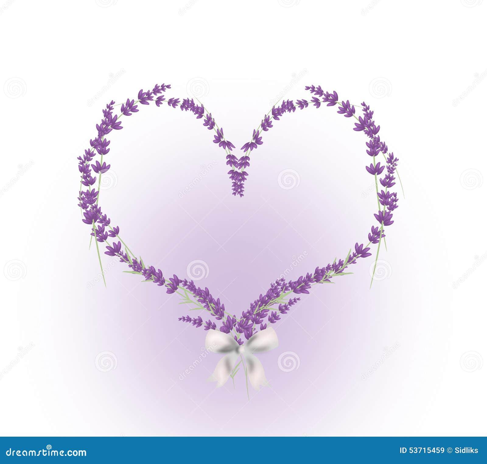 Coração da alfazema