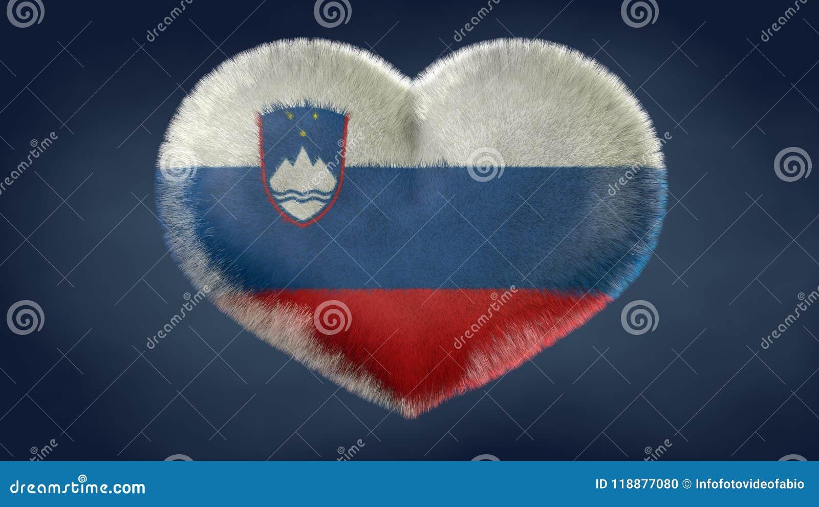 Coração da bandeira de Eslovênia
