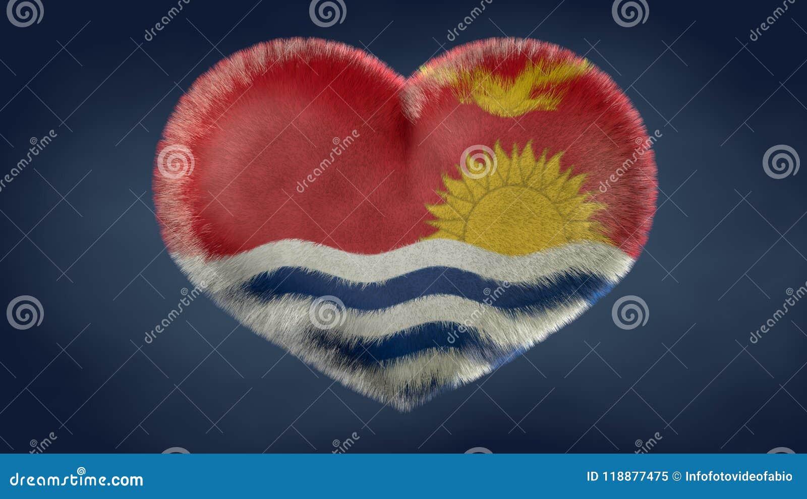 Coração da bandeira de Kiribati