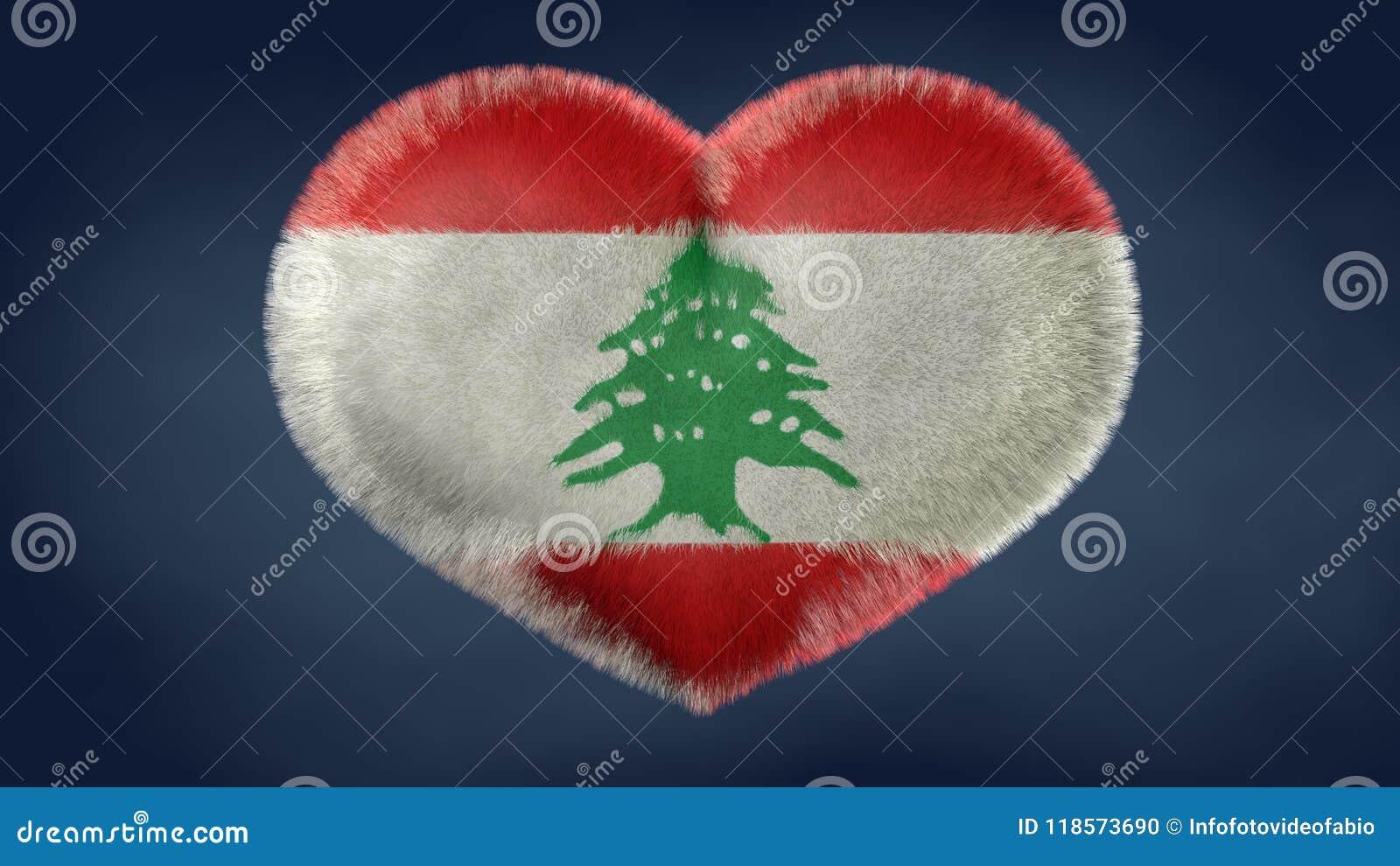 Coração da bandeira de Líbano