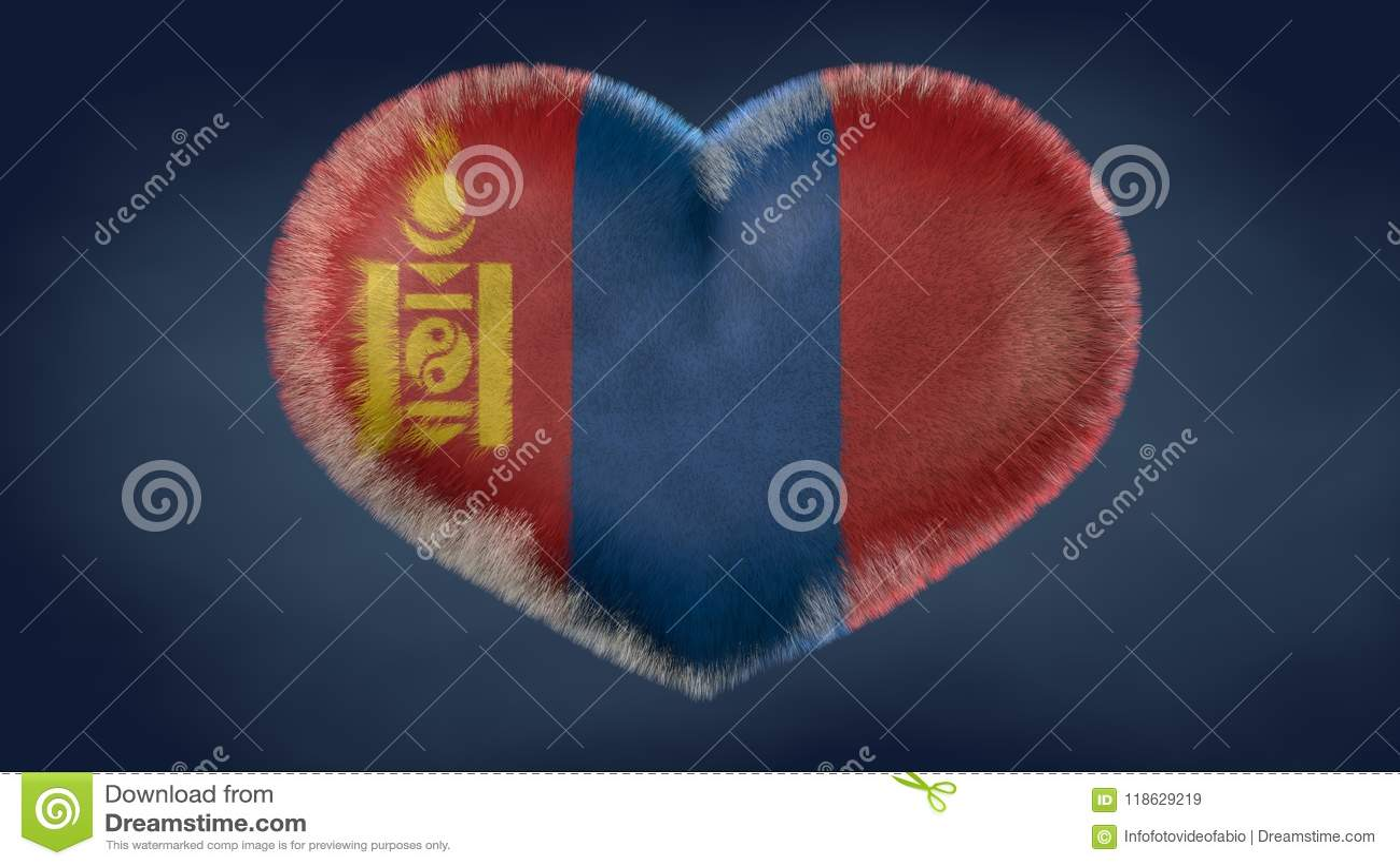 Coração da bandeira de Mongólia