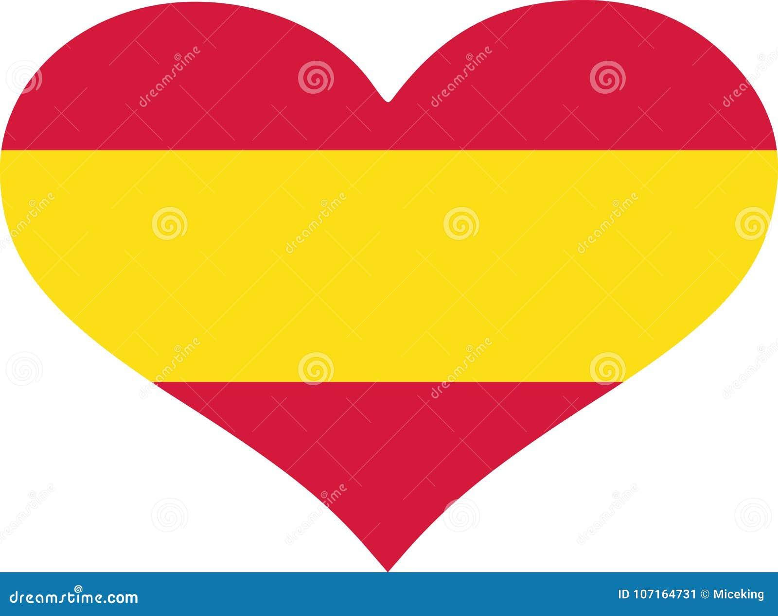 Coração da bandeira da Espanha