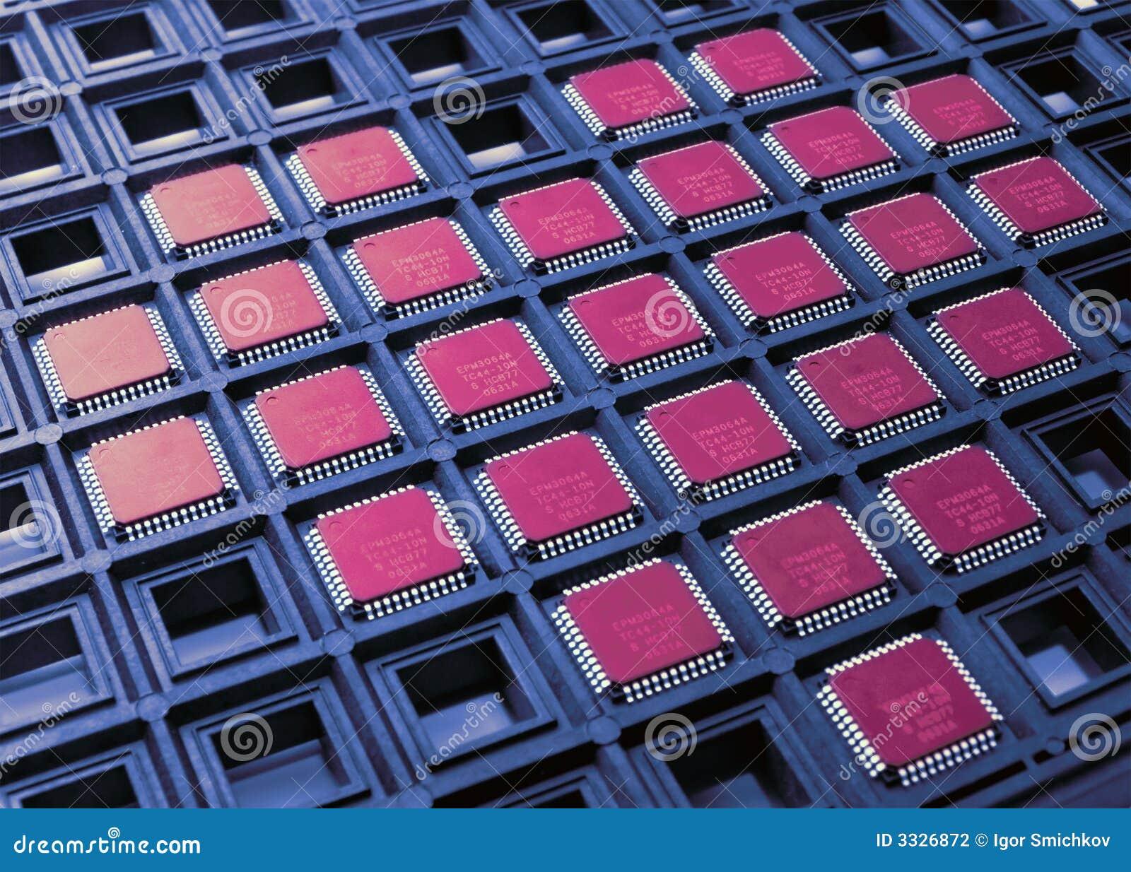 Coração das microplaquetas do processador central