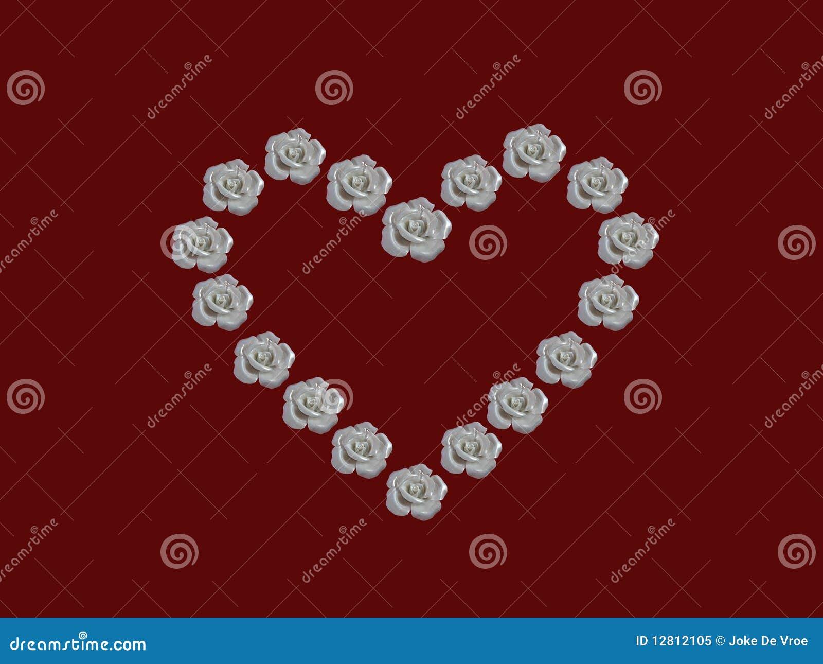 Coração das rosas brancas