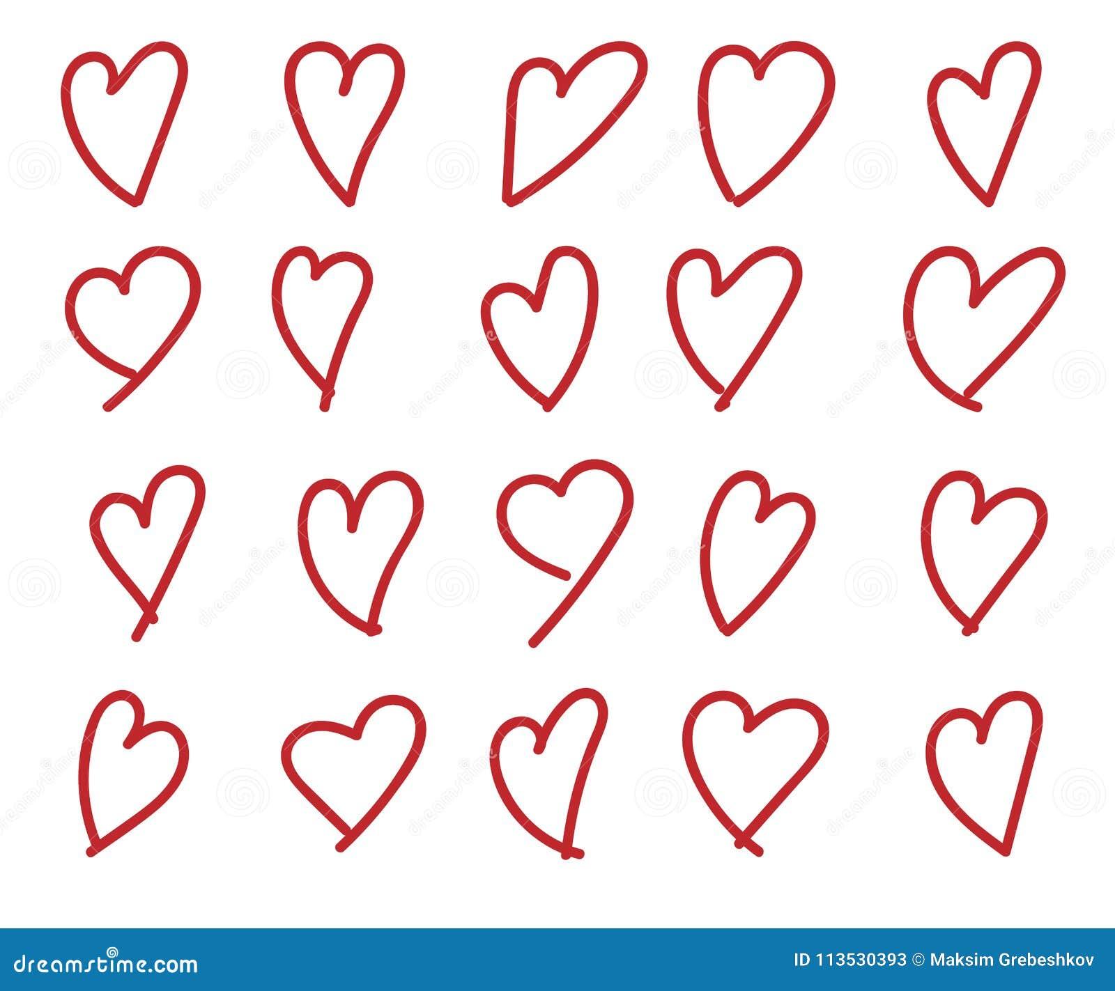 Coração desenhado mão