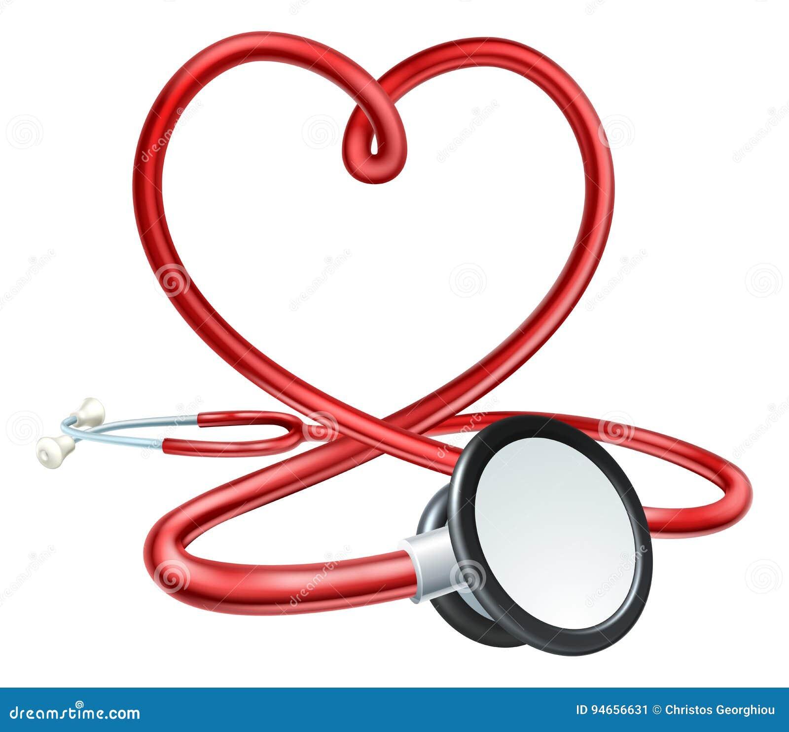 Coração do estetoscópio