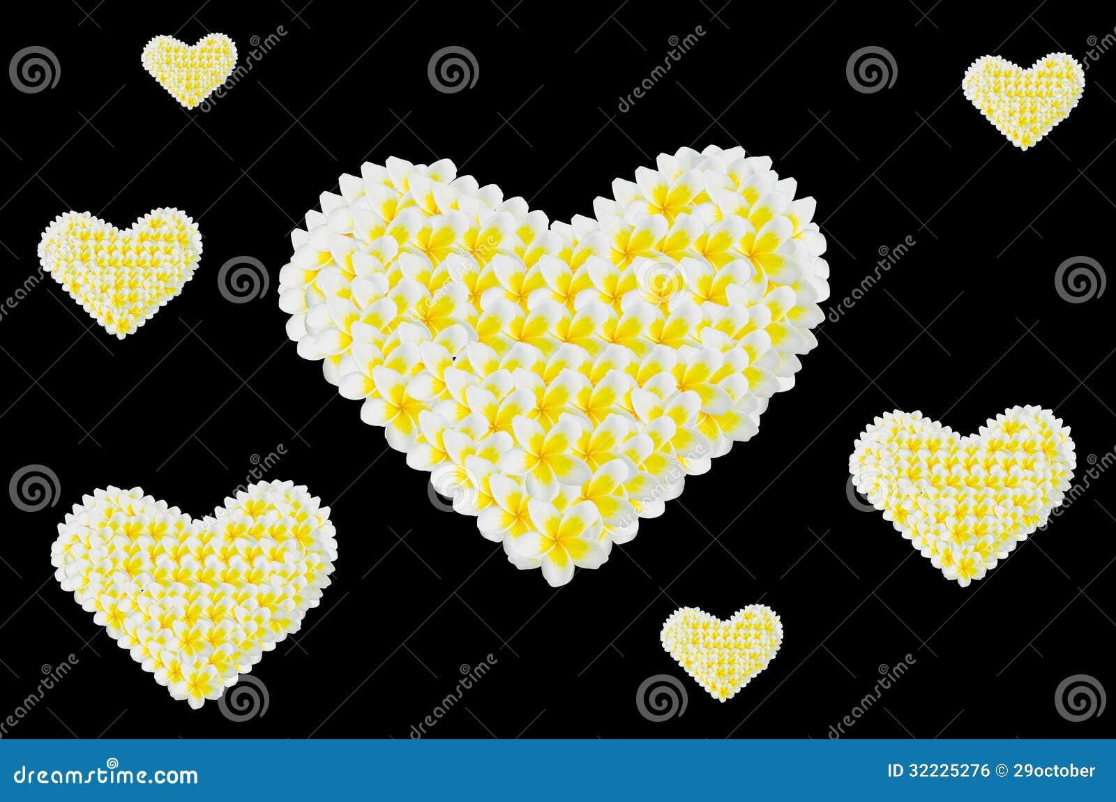 Download Coração Do Frangipani, Plumeria, Templetree Foto de Stock - Imagem de closeup, romântico: 32225276