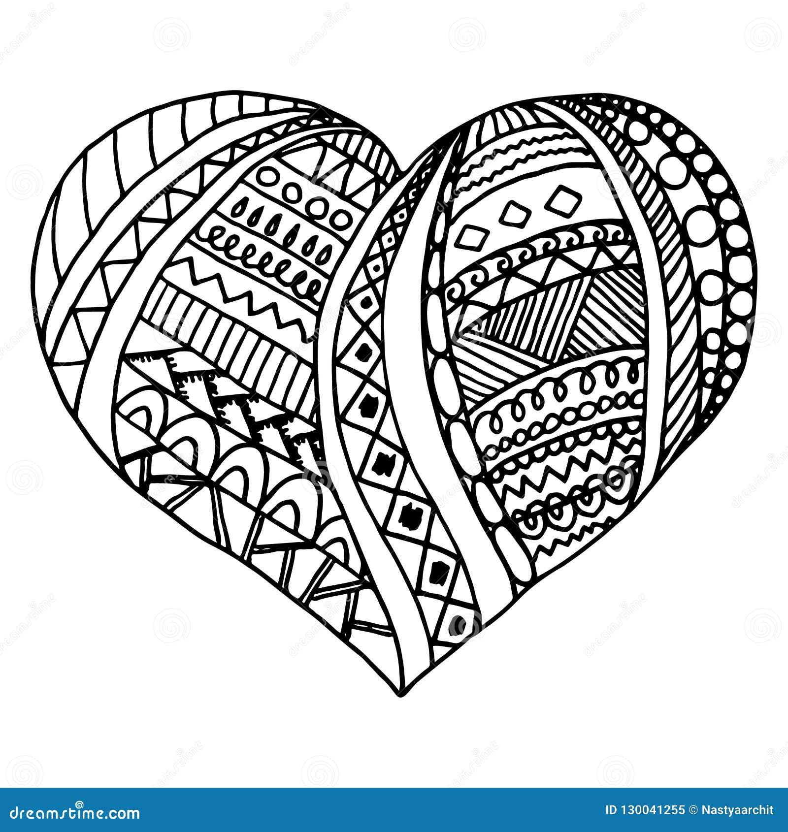 fc033677873602 Coração Do Vetor Rabiscar O Projeto, Decoração Do Dia Do ` S Do ...