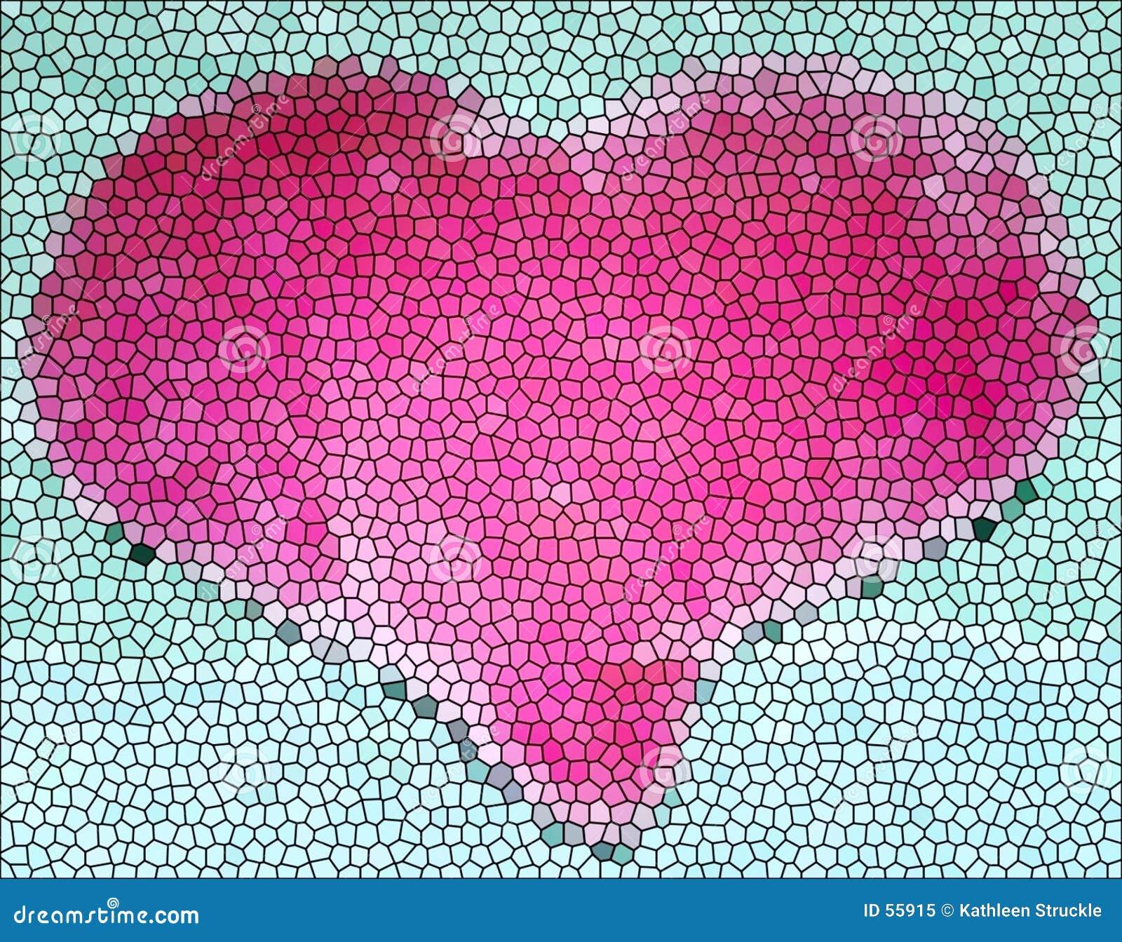 Coração do vidro manchado