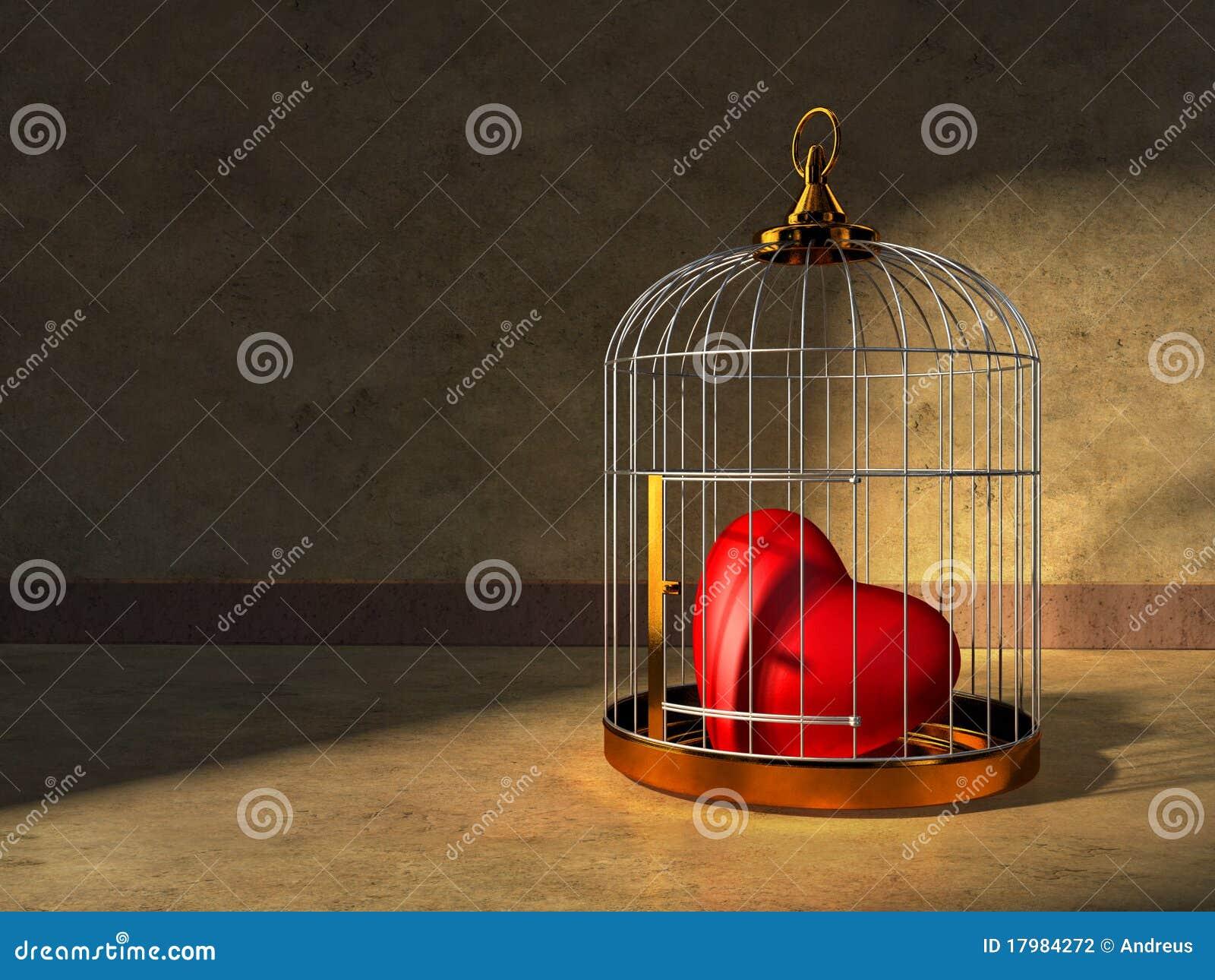 Coração em uma gaiola