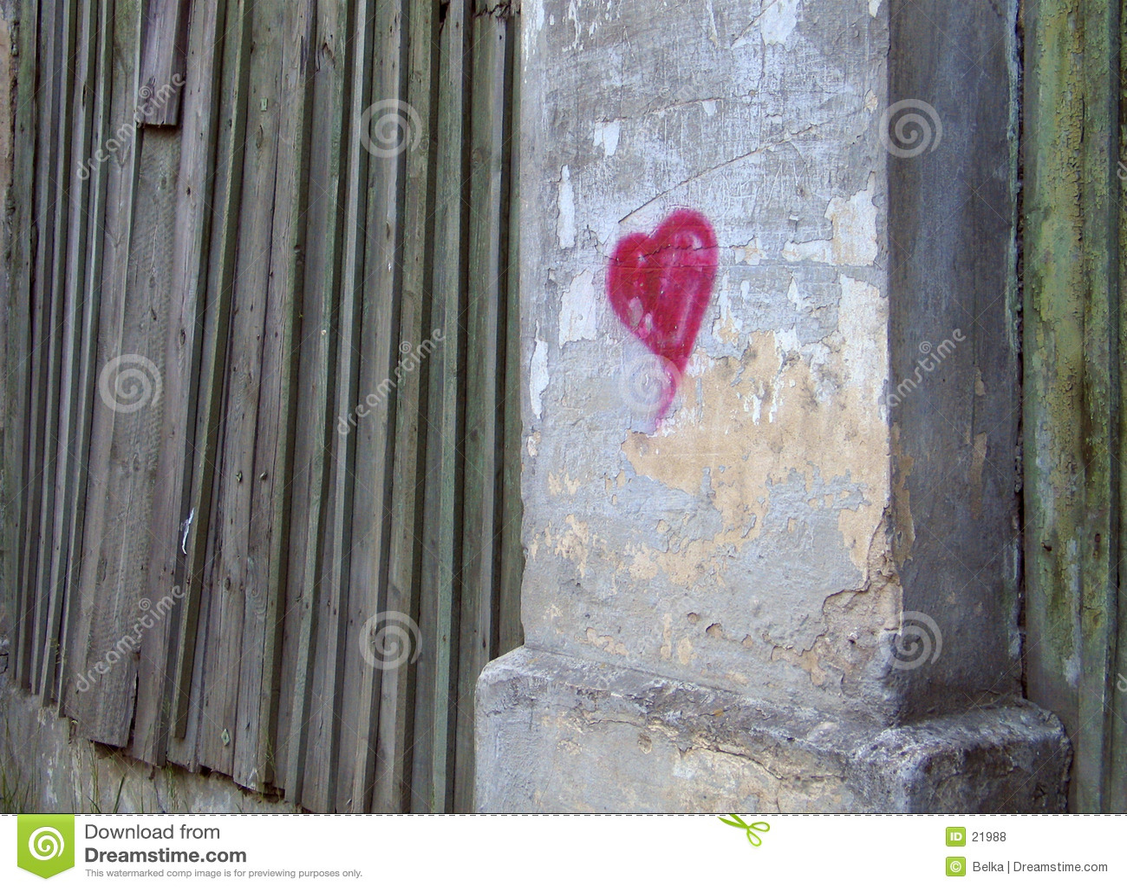 Coração em uma parede