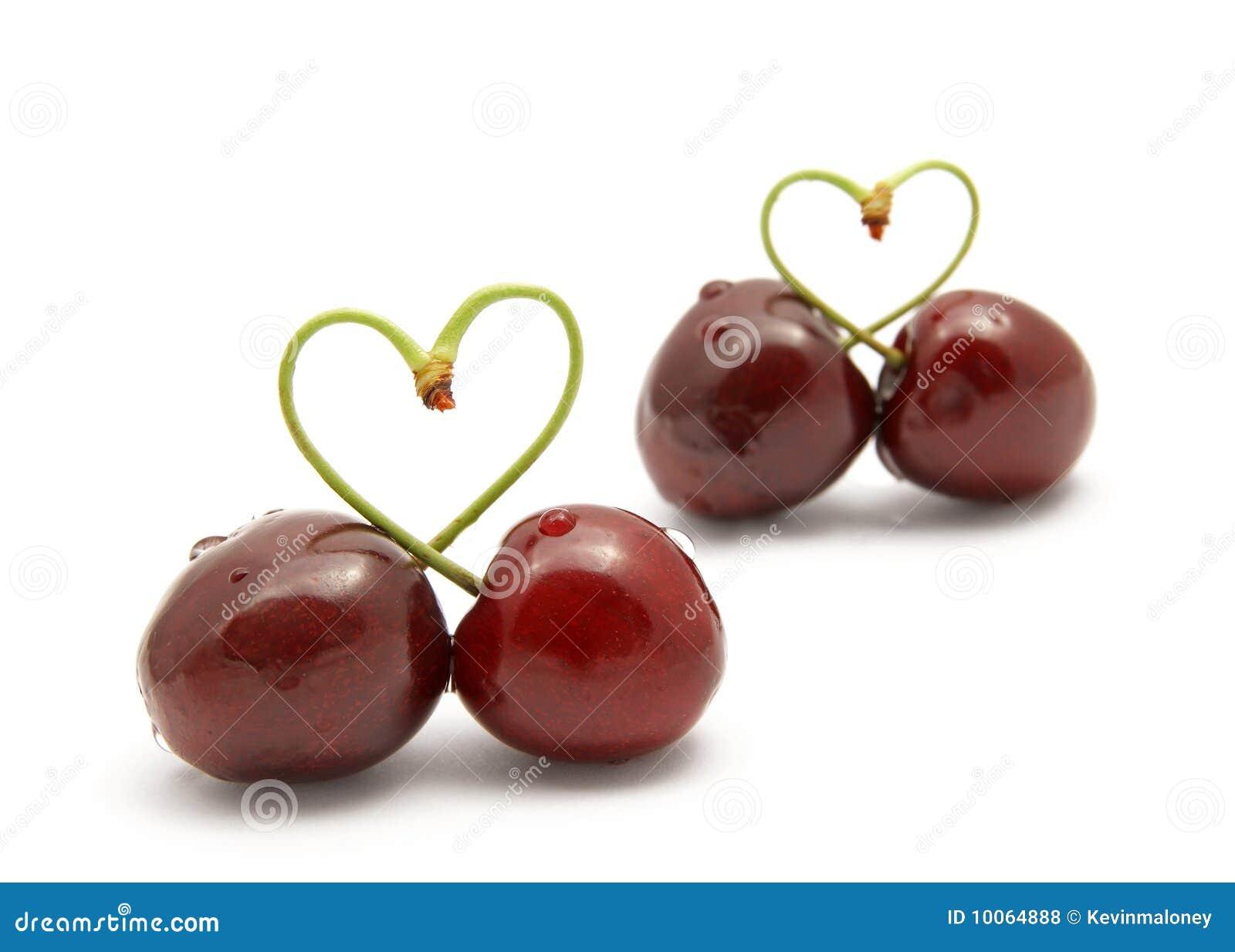 Coração-forma da cereja