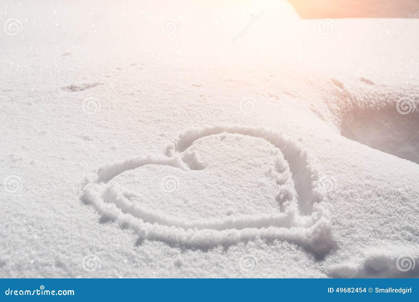 Coração na neve