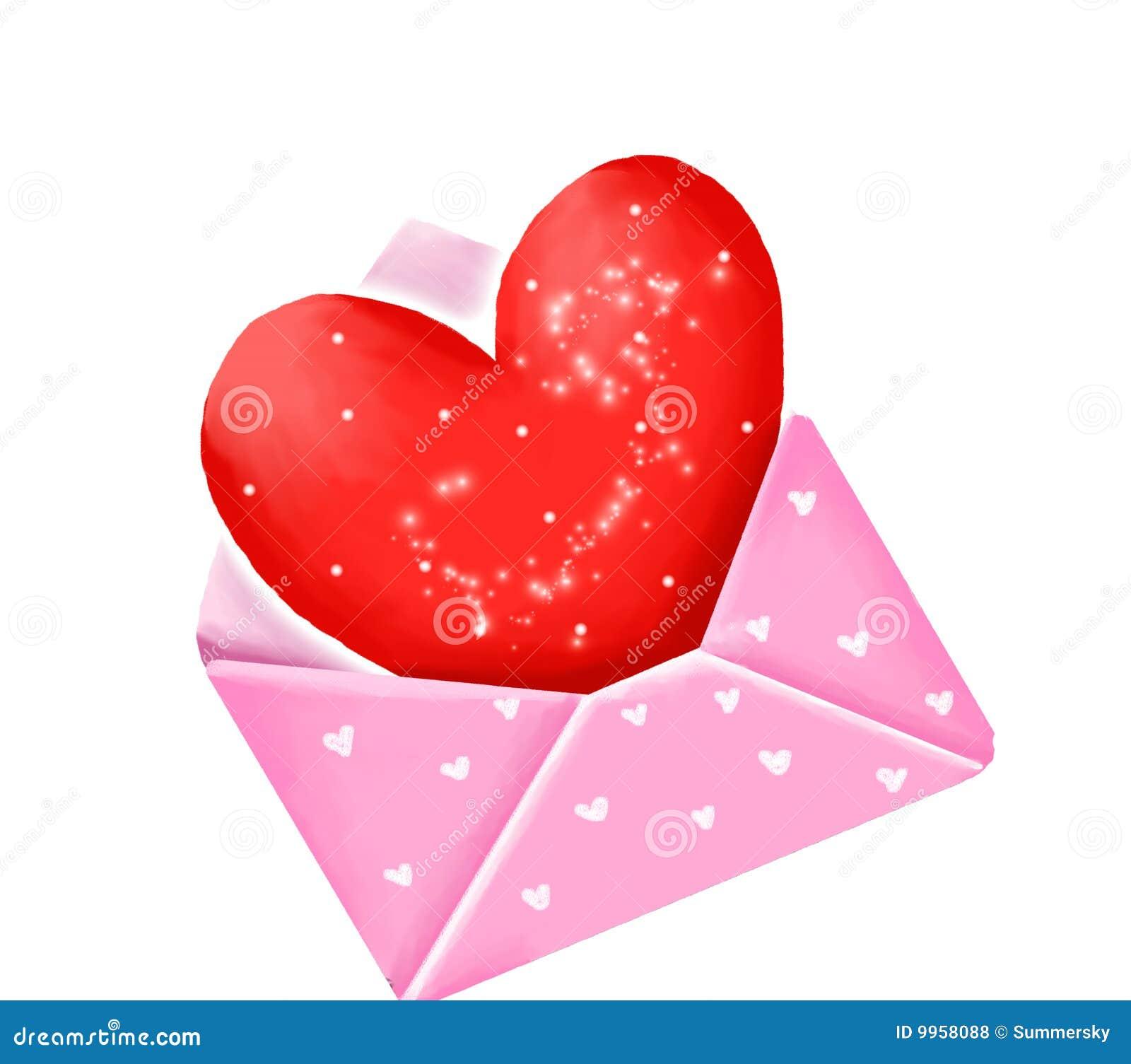 Coração no envelope