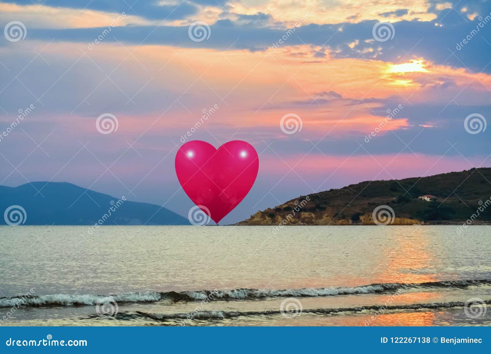 Coração no horizonte