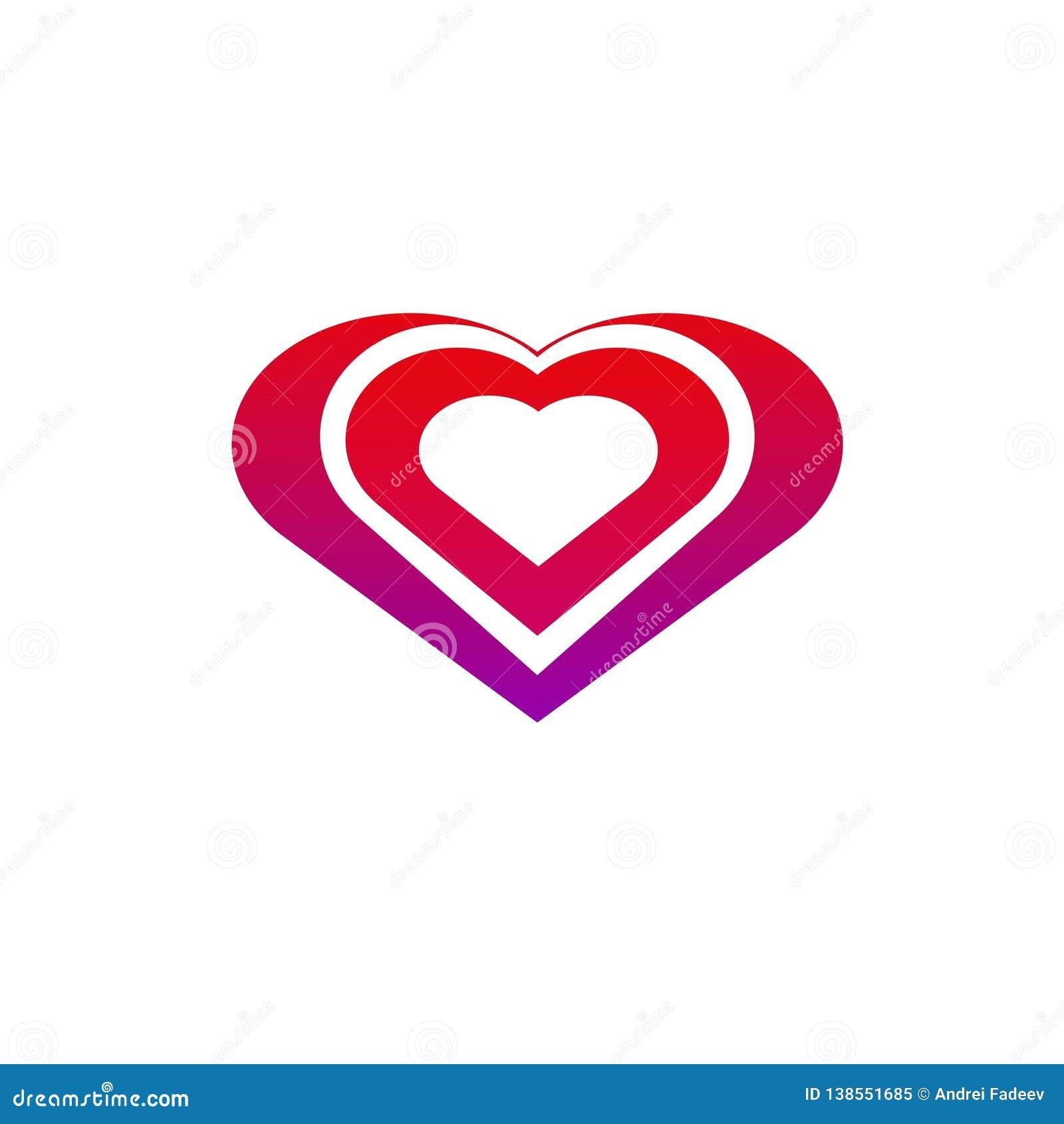 Coração para o amor com uma cor bonita