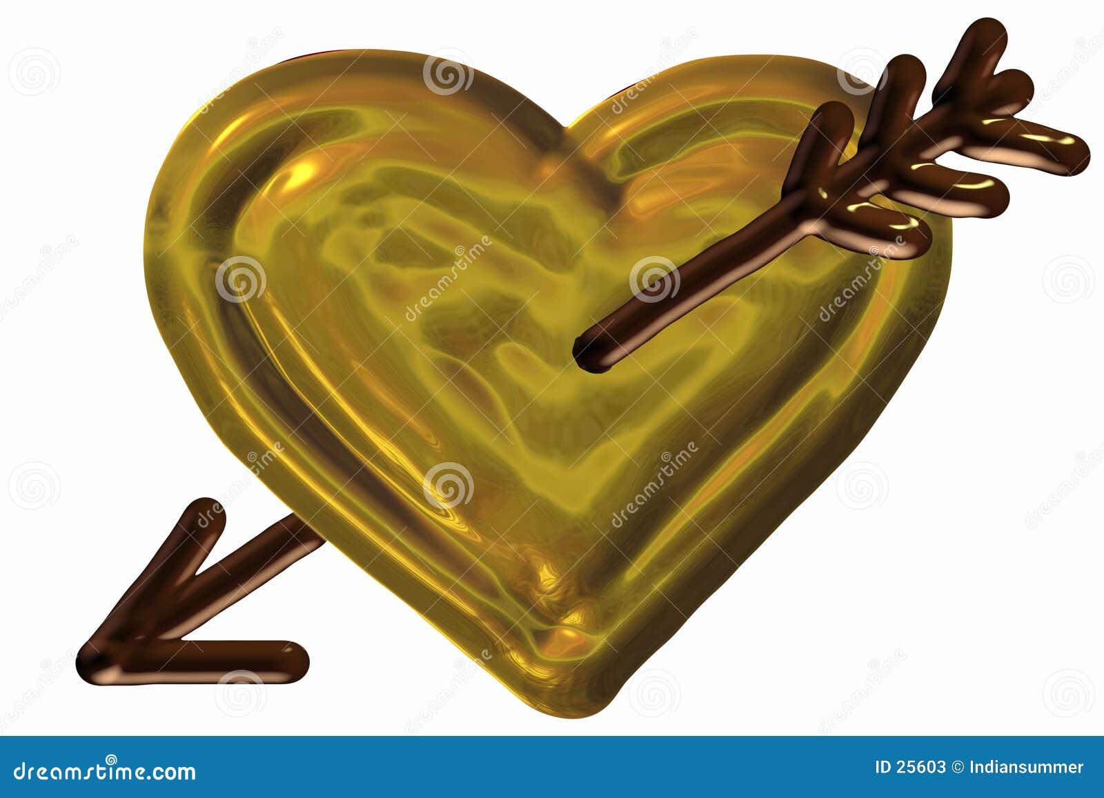 Coração perfurado