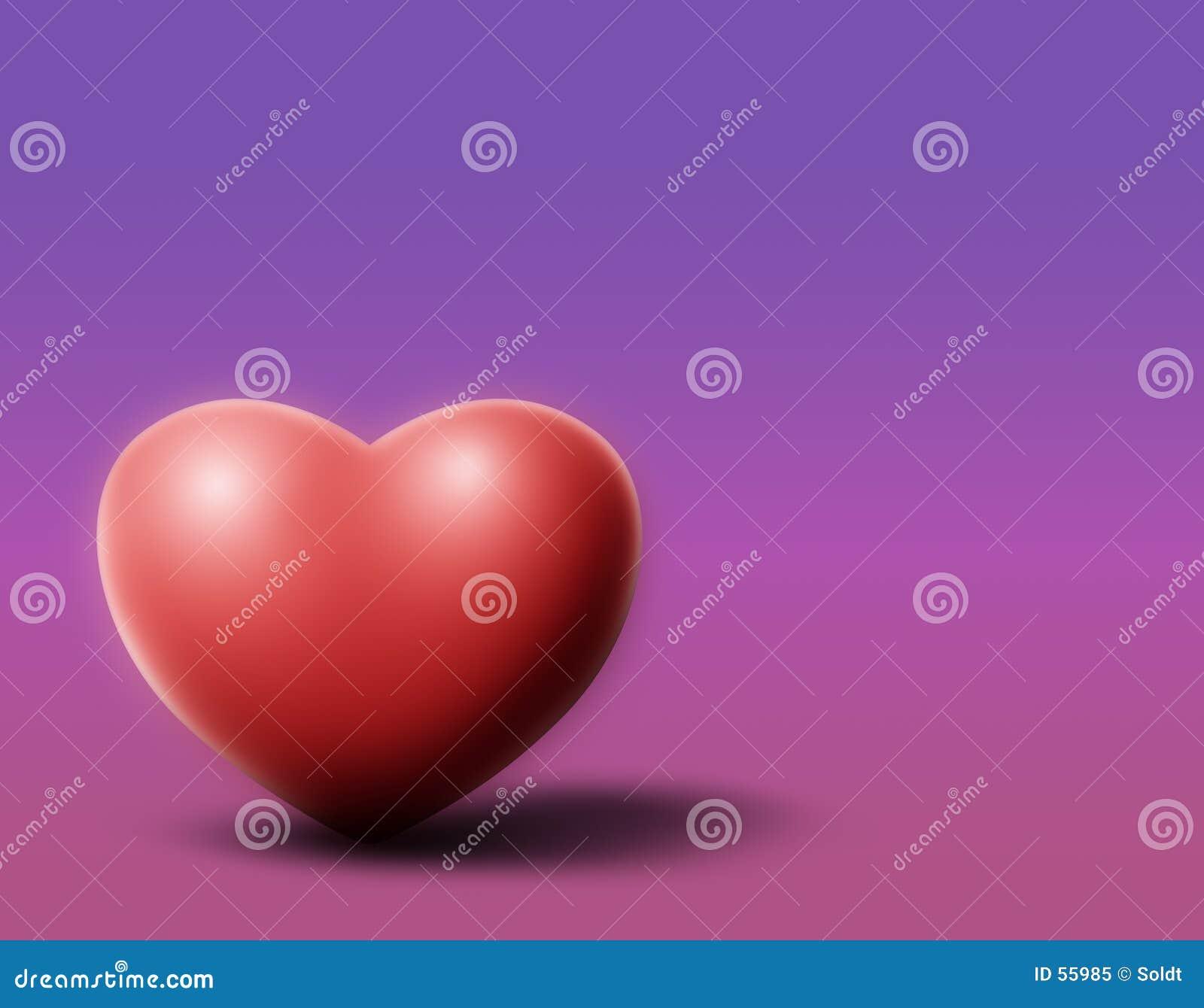 Coração roxo