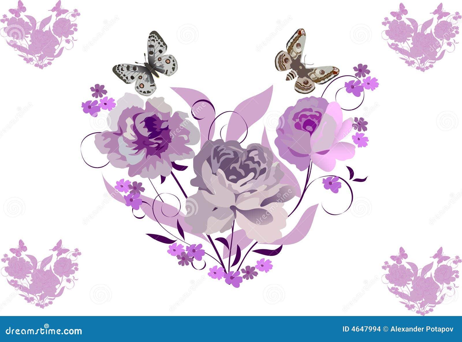 Corações cor-de-rosa da flor