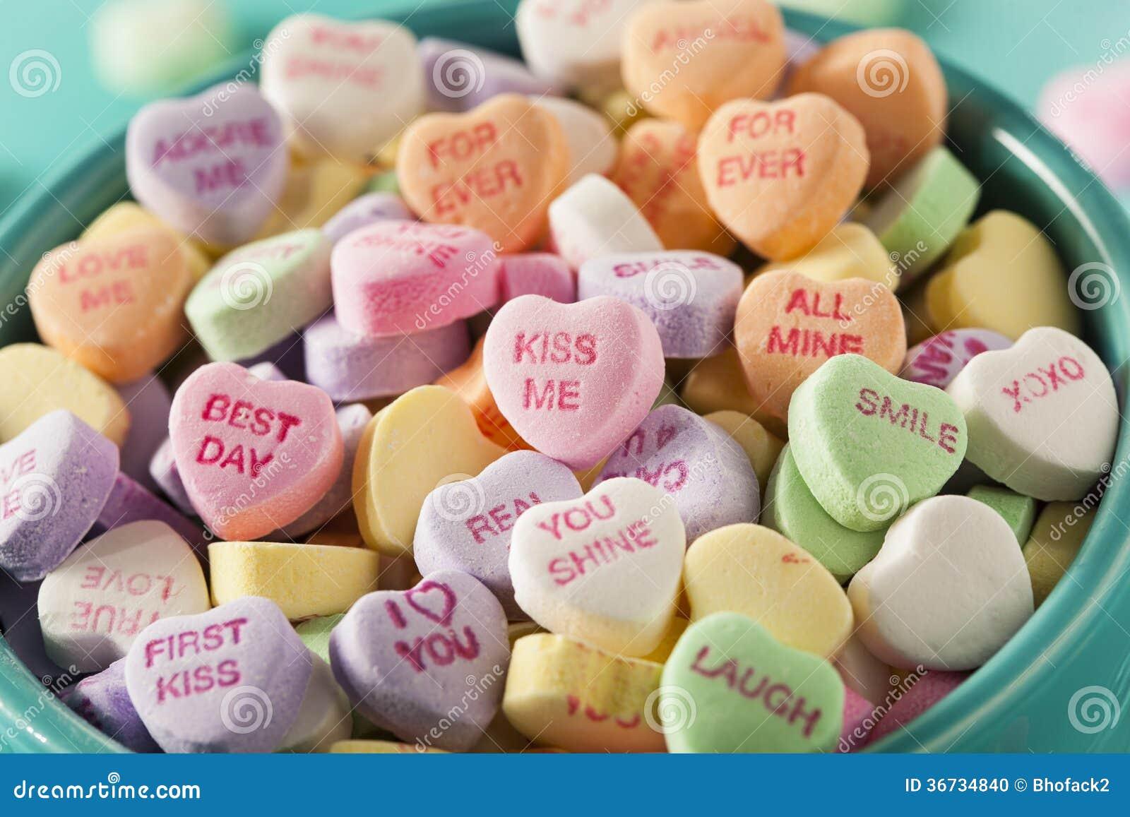 Corações da conversação dos doces para o dia de Valentim