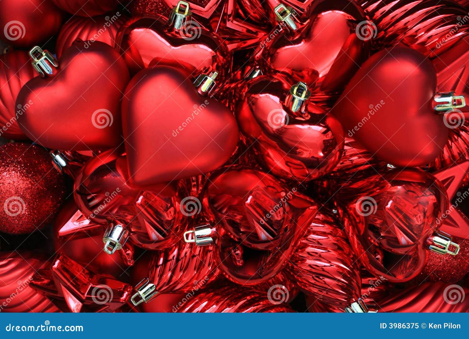 Corações do dia dos Valentim.