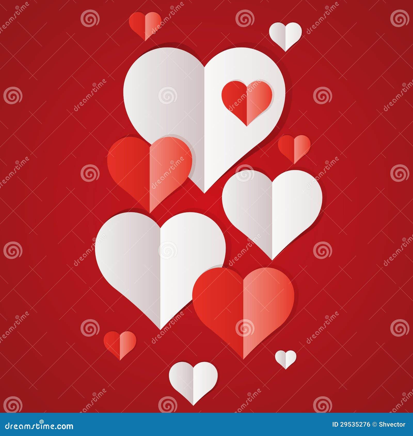 Corações do Livro vermelho e Branco