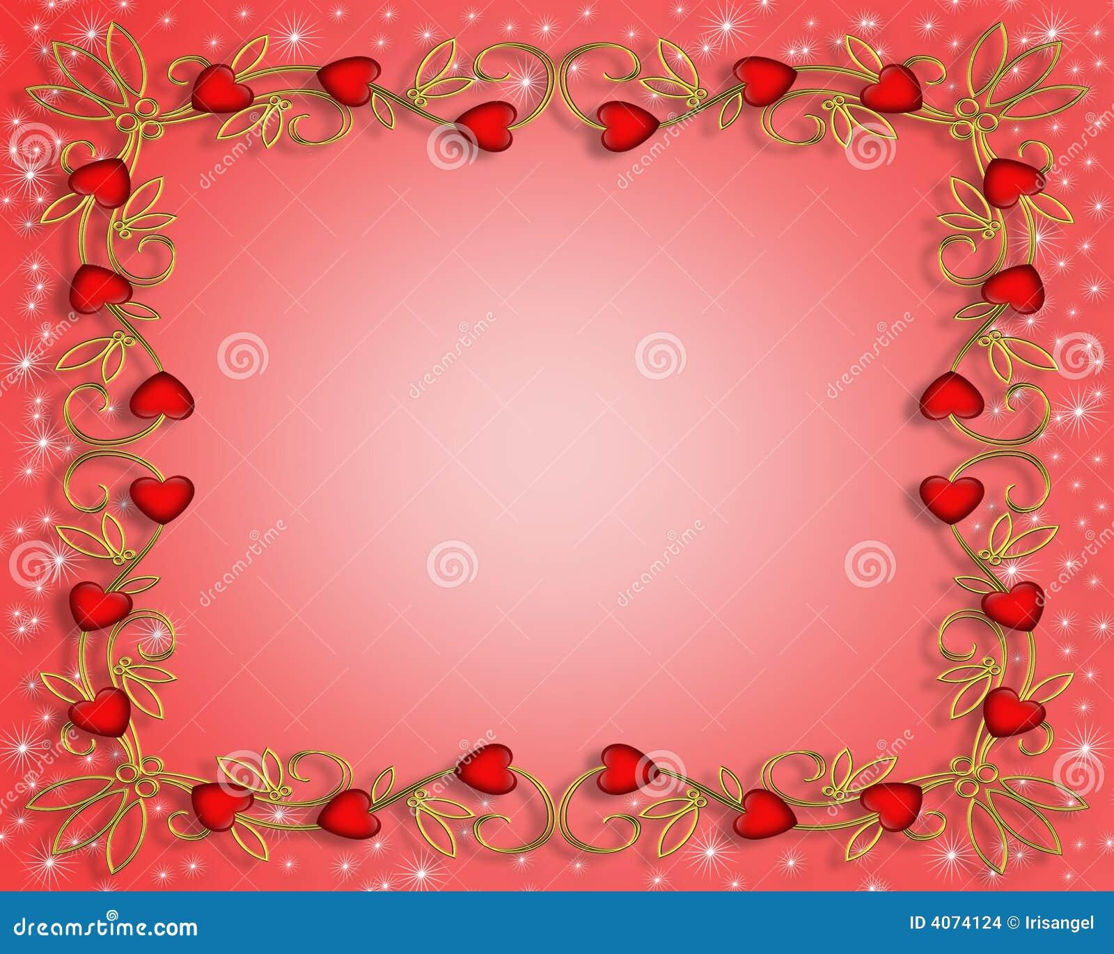 Corações do vermelho do dia dos Valentim