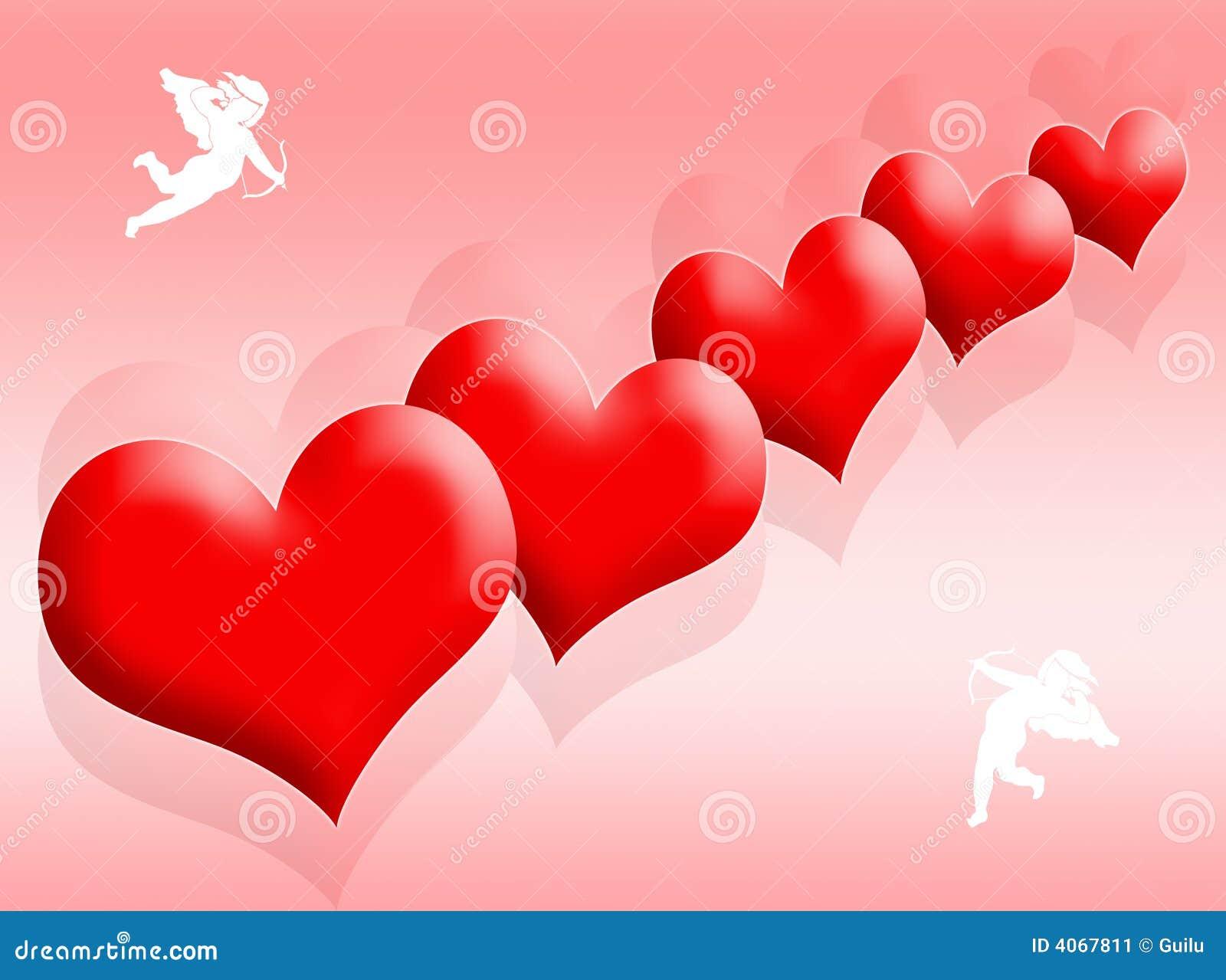 Corações e amor