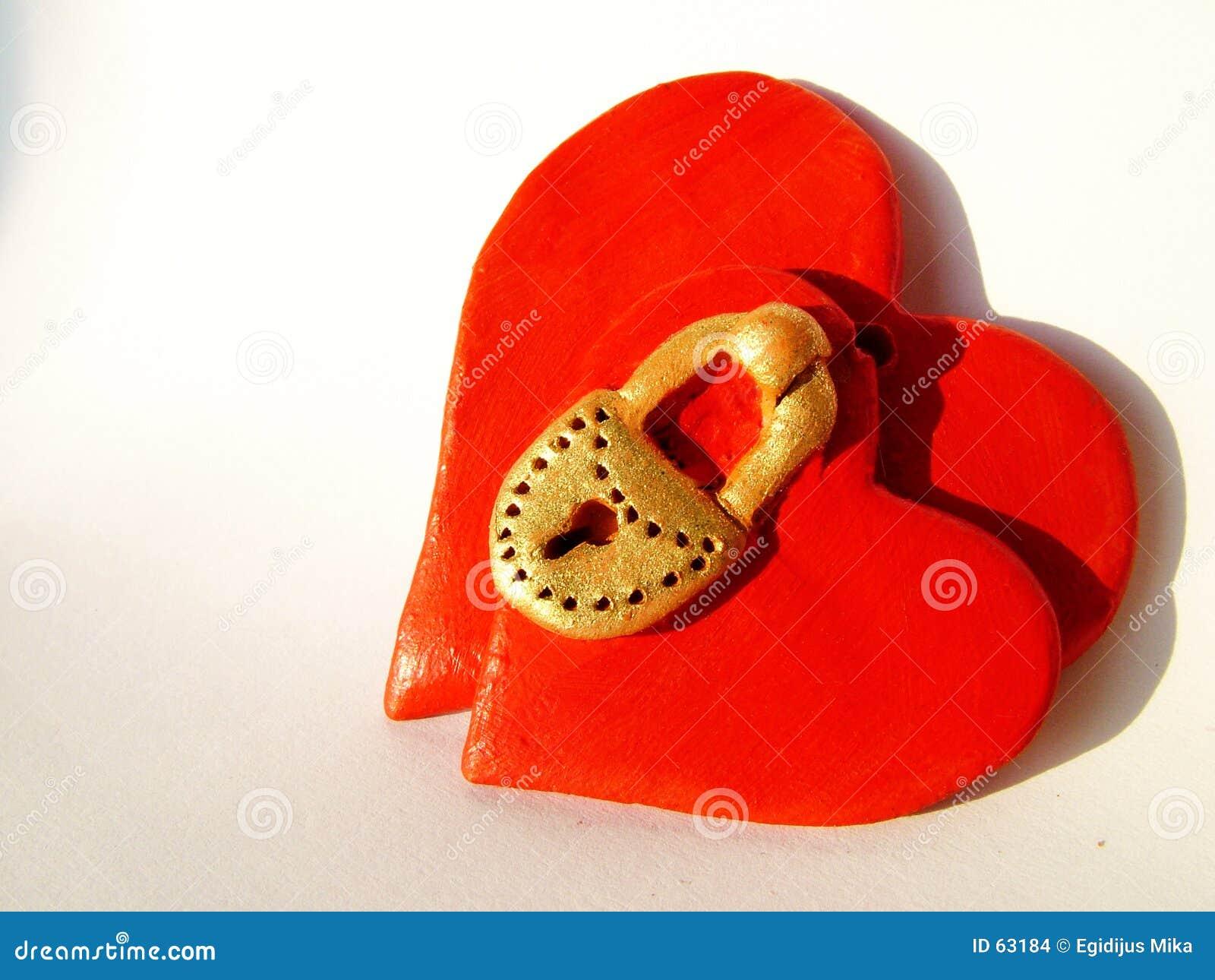 Corações Locked 1 do Valentim