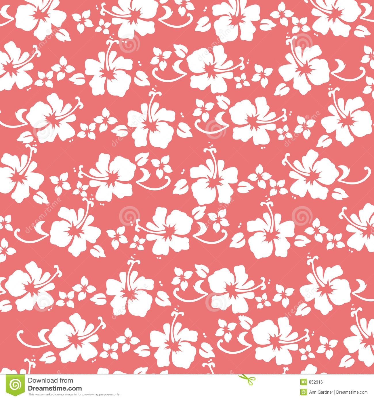 coral hibiscus pattern royalty free stock image image