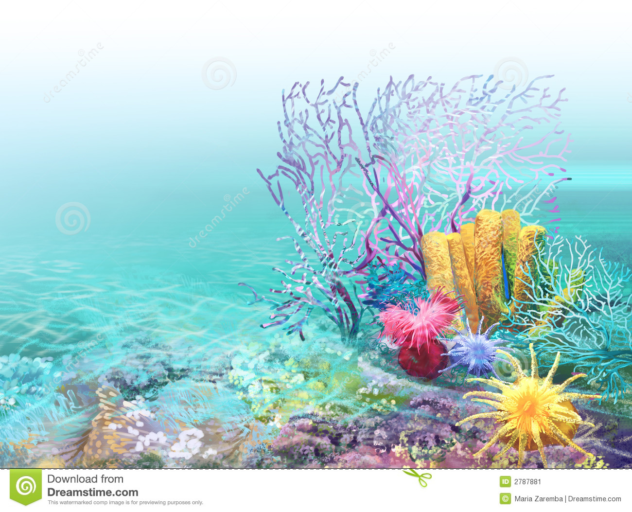 Coral Reef Background Stock Image - Image: 2787881
