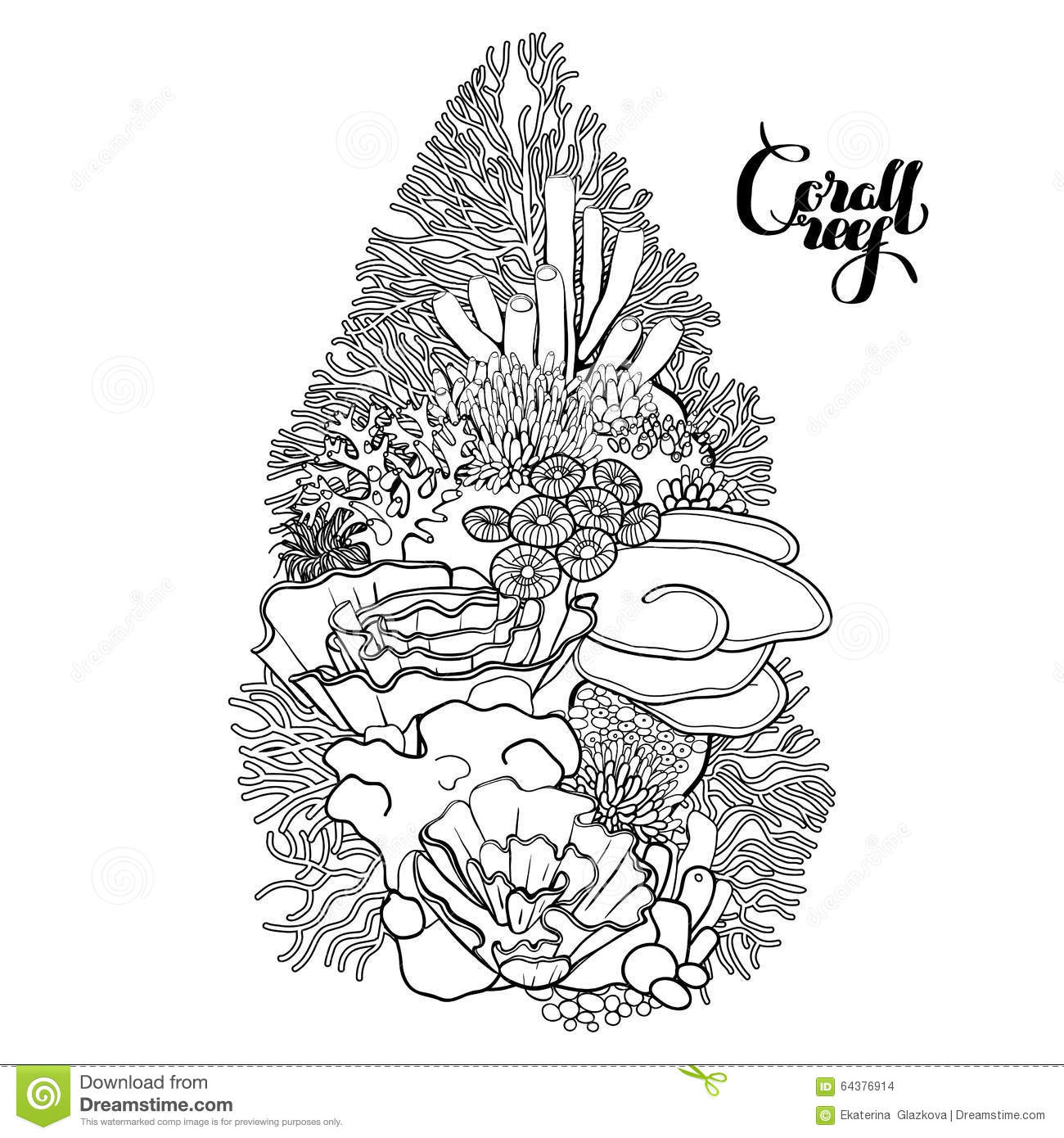 ocean plants coloring pages free - photo#30
